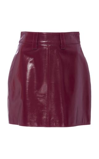 ELEANOR BALFOUR | Eleanor Balfour Lola Leather Miniskirt | Goxip