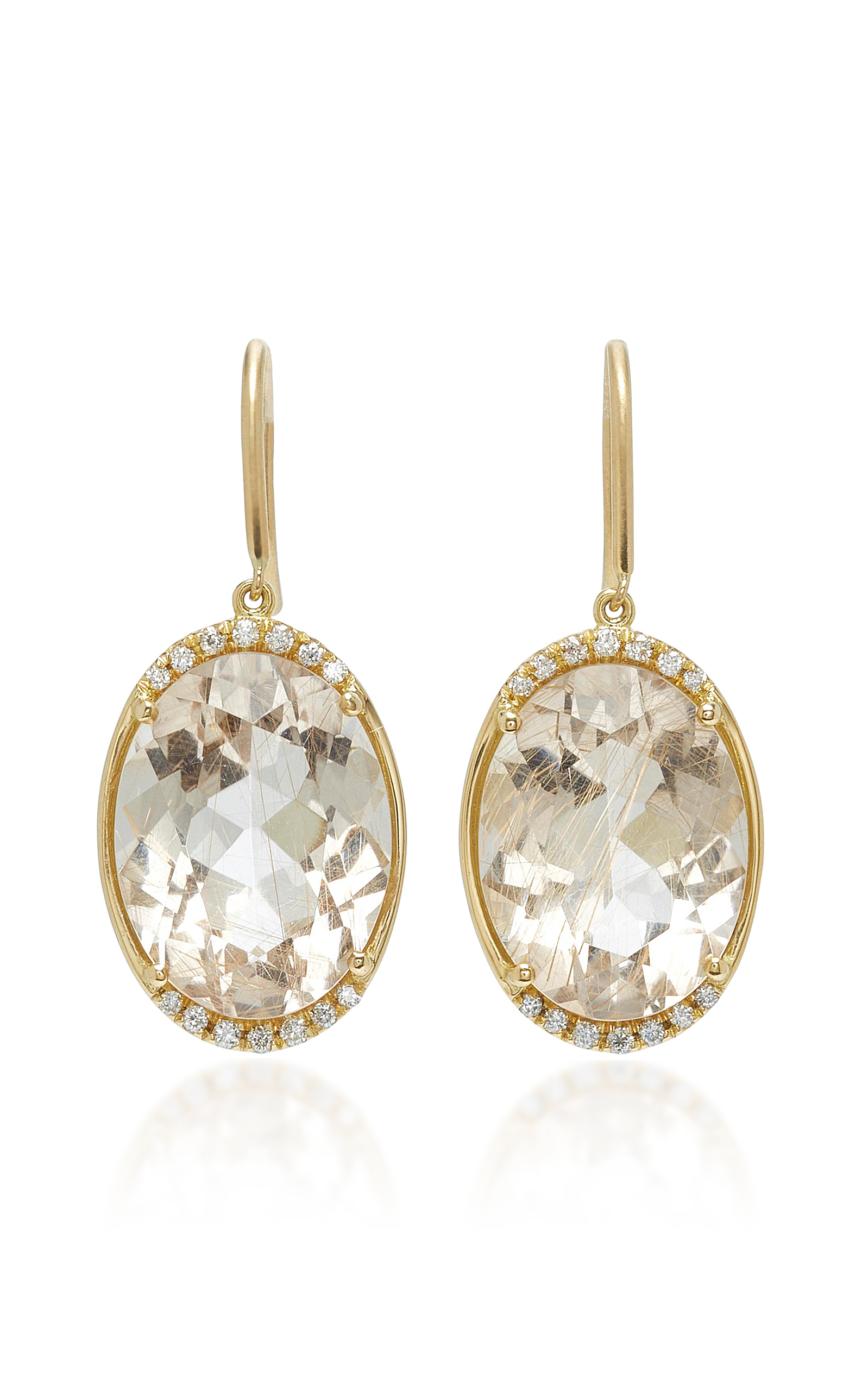 JAMIE WOLF | Jamie Wolf M'O Exclusive One-Of-A-Kind Oval Drop Earring | Goxip