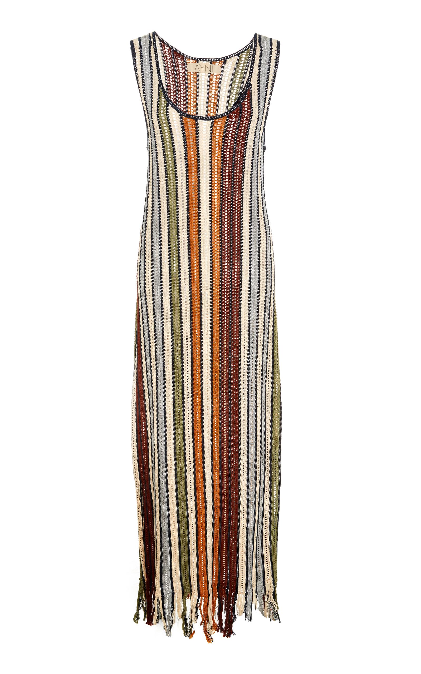 AYNI Sumaq Fringed Crochet Dress in Multi