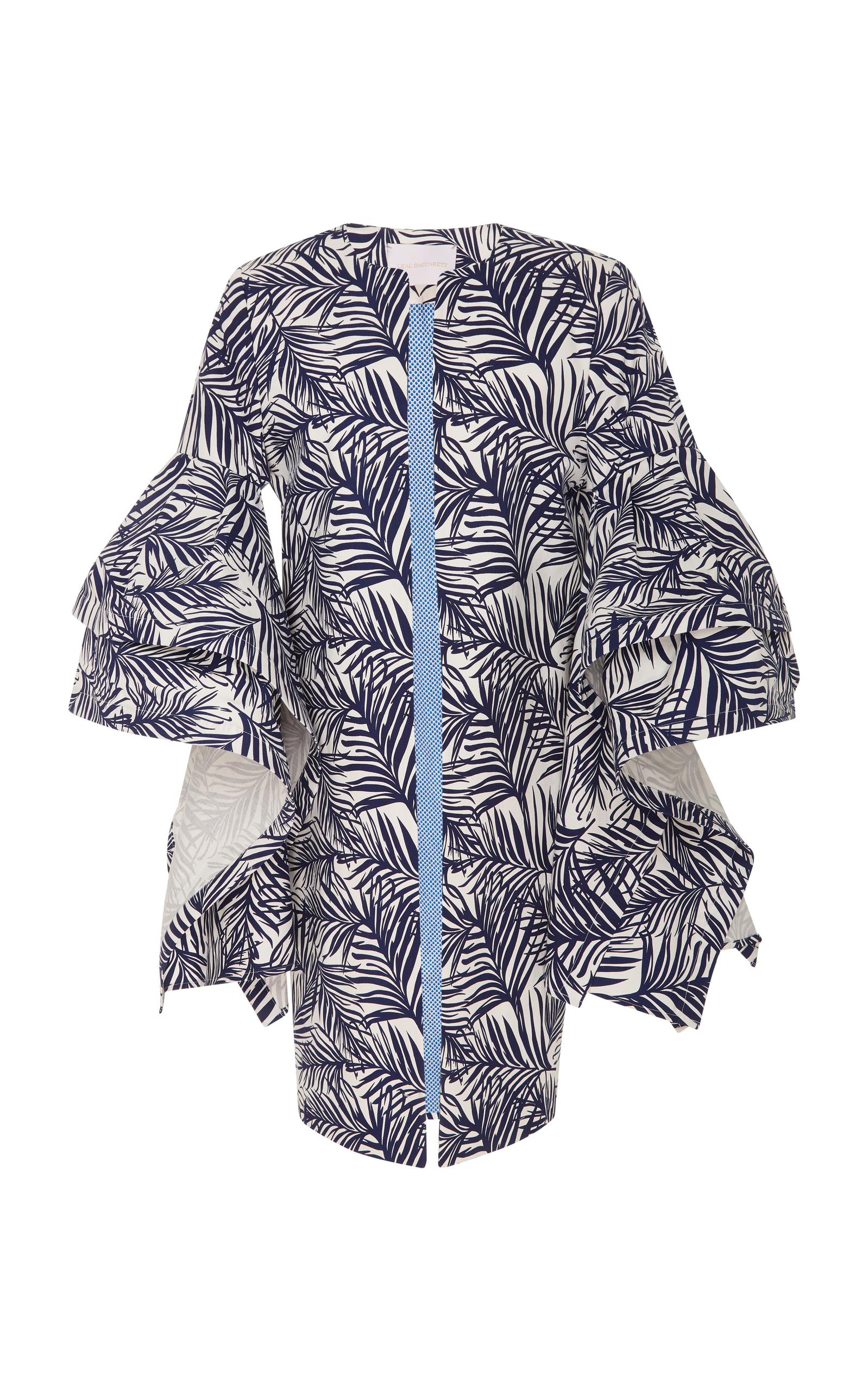 flamenco ruffle coat by leal daccarett moda operandi