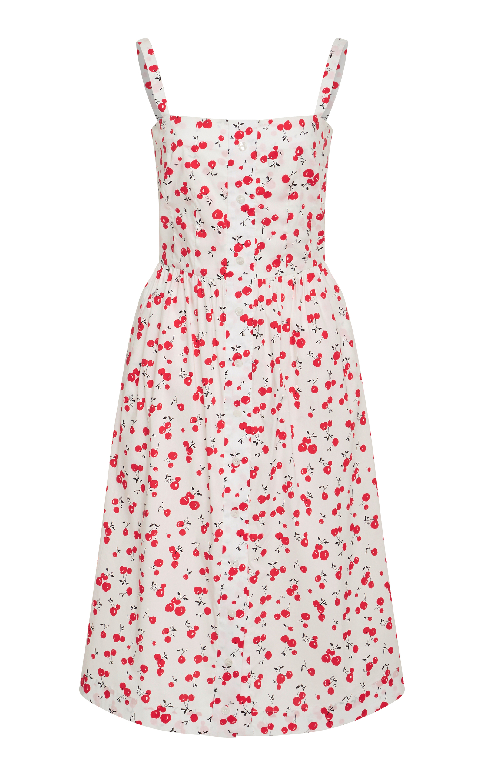 Hvn  LAURA CHERRY PRINTED COTTON DRESS