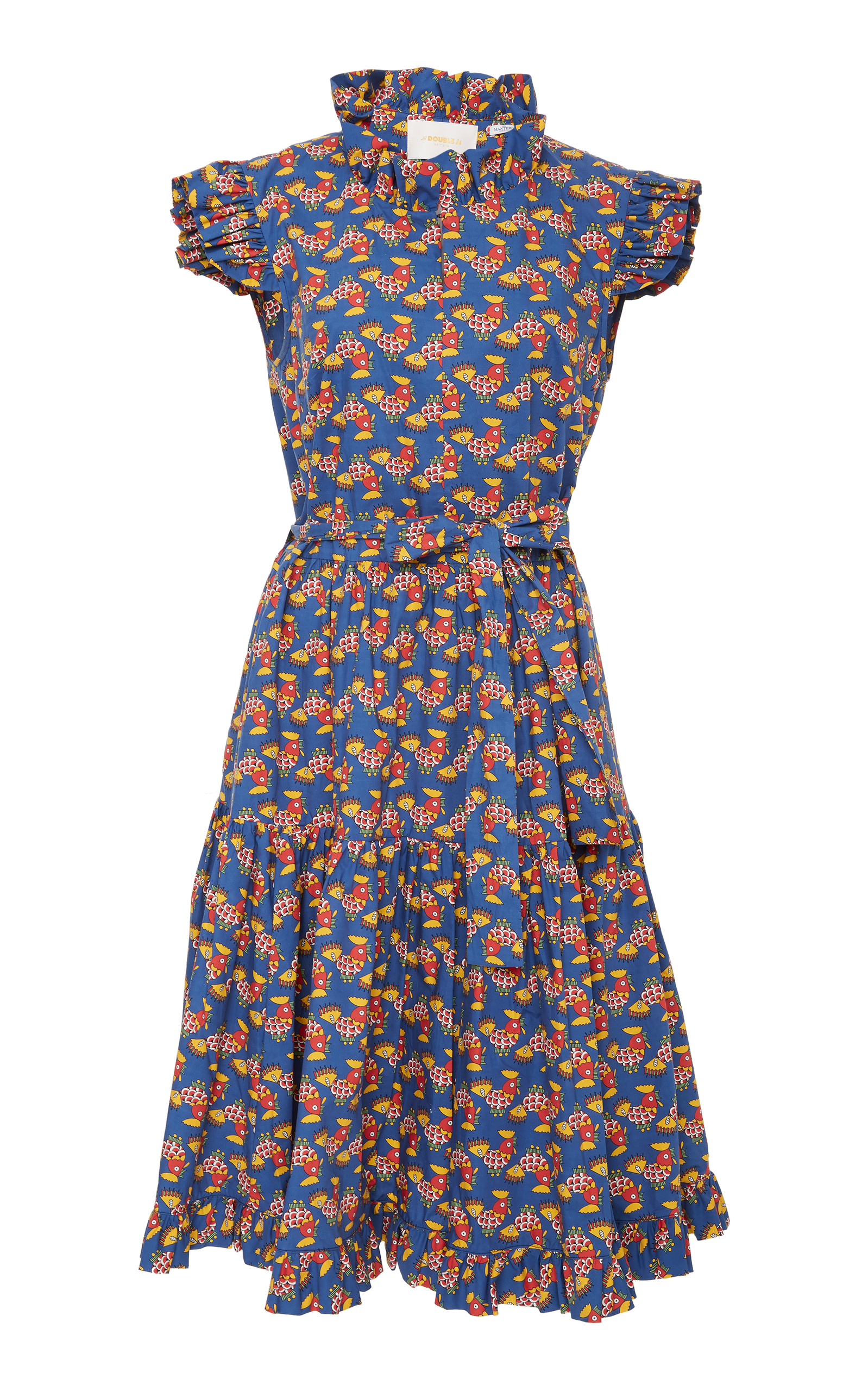 Short and Sassy Belted Ruffled Cotton Dress La DoubleJ i1r8ZQooZL