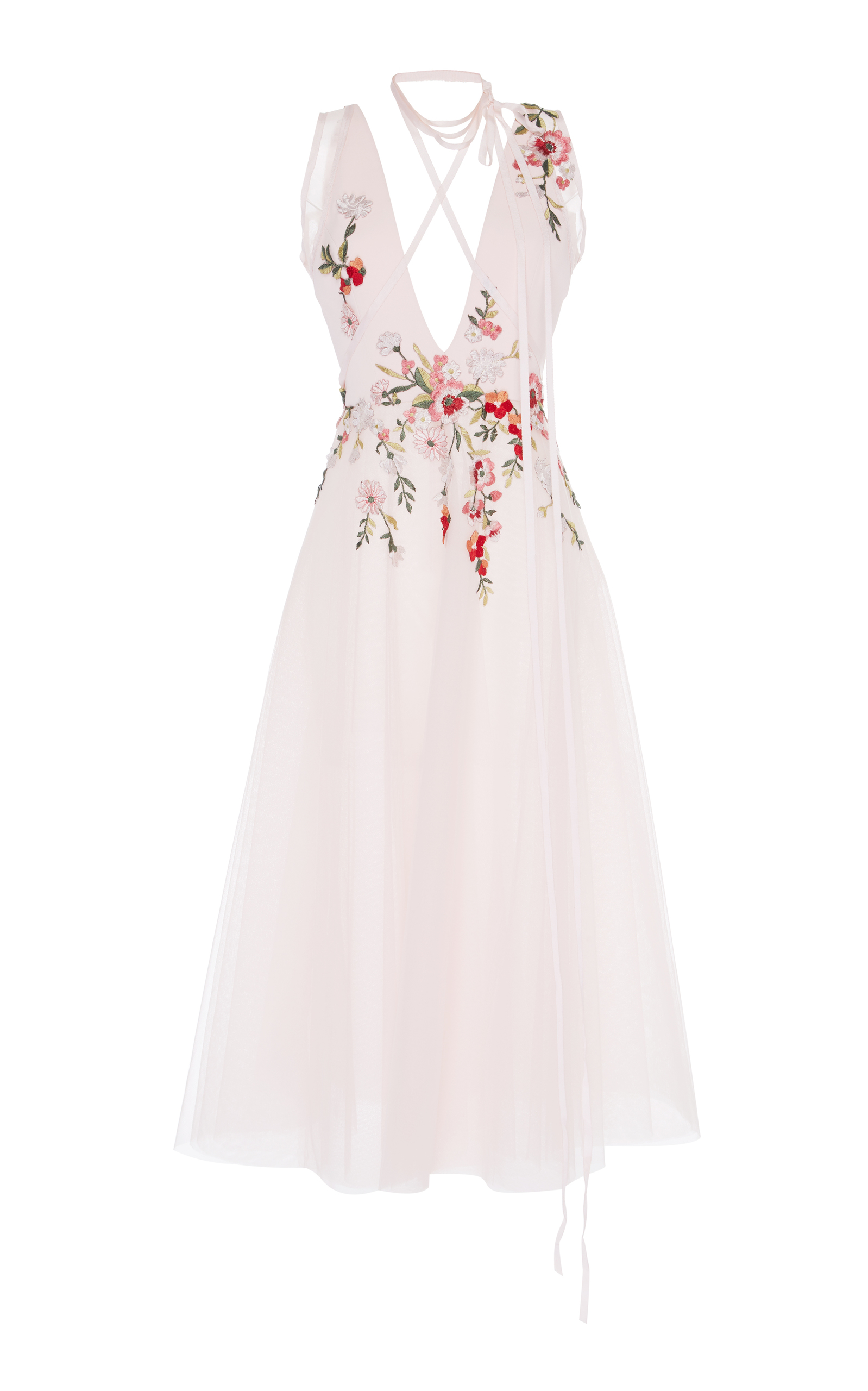 841be5506d Georges HobeikaFloral Embroidered Tea-Length Dress. CLOSE. Loading
