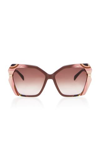 EMILIO PUCCI SUNGLASSES | Emilio Pucci Sunglasses Oversized Printed Acetate Square-Frame Sunglasses | Goxip