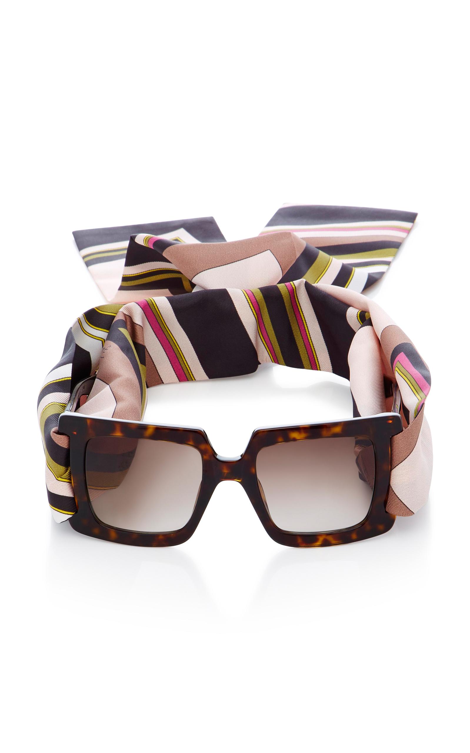 f00f92b0aef Tortoiseshell Square Frame Sunglasses by Emilio Pucci Sunglasses ...