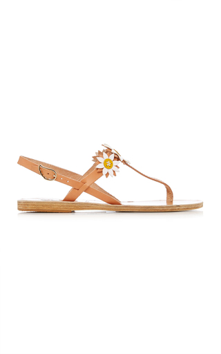 FABRIZIO VITI X ANCIENT GREEK SANDALS | Fabrizio Viti x Ancient Greek Sandals Sylvie Floral-Embellished Leather Sandal | Goxip