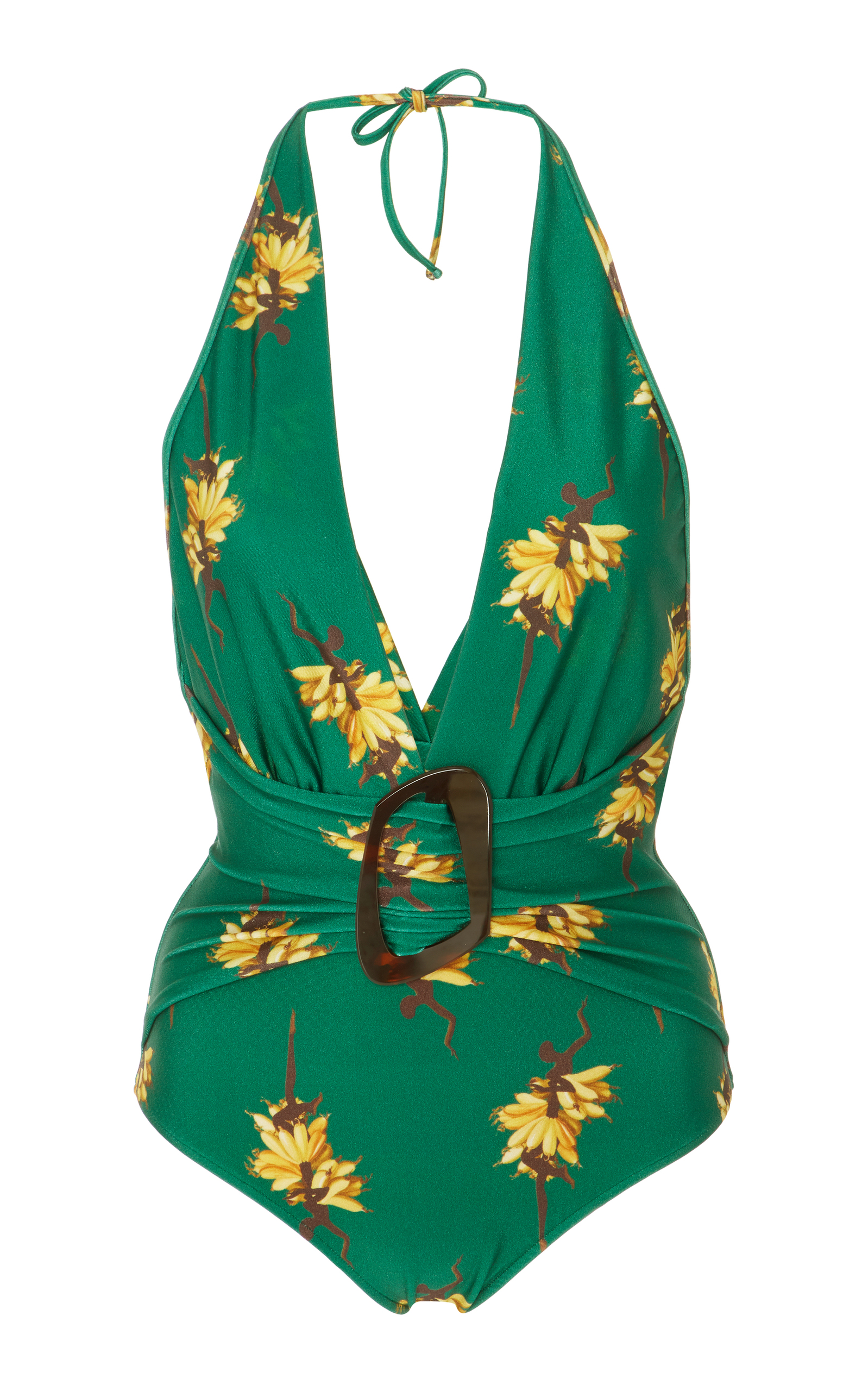 Josephine Baker halterneck deep V-neck swimsuit Adriana Degreas From China For Sale Cheap Official Site XN9di