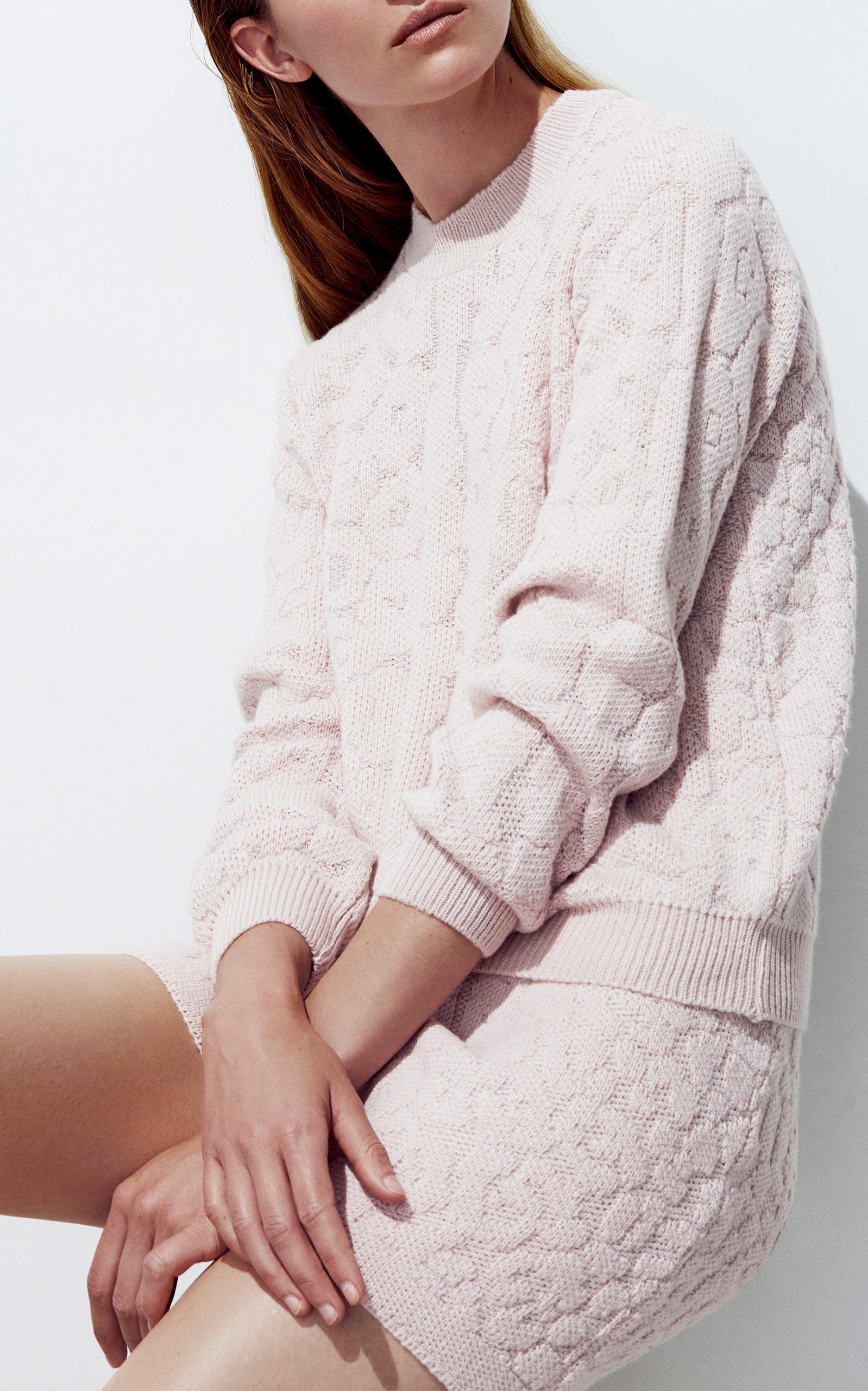 NANNA VAN BLAADEREN Jaguar Print Sweater in Neutral