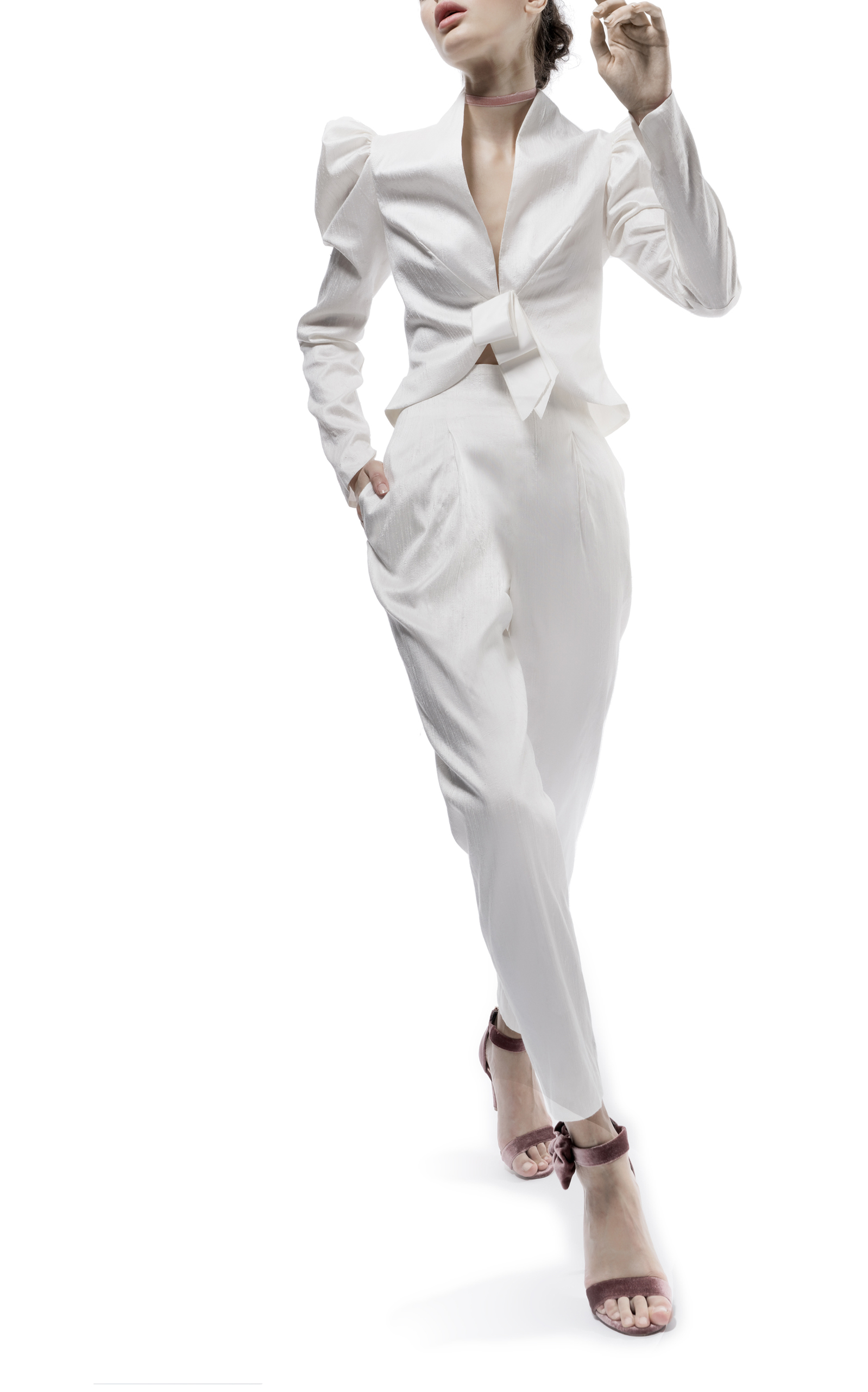 ELIZABETH FILLMORE The Eddy Wedding Suit in White