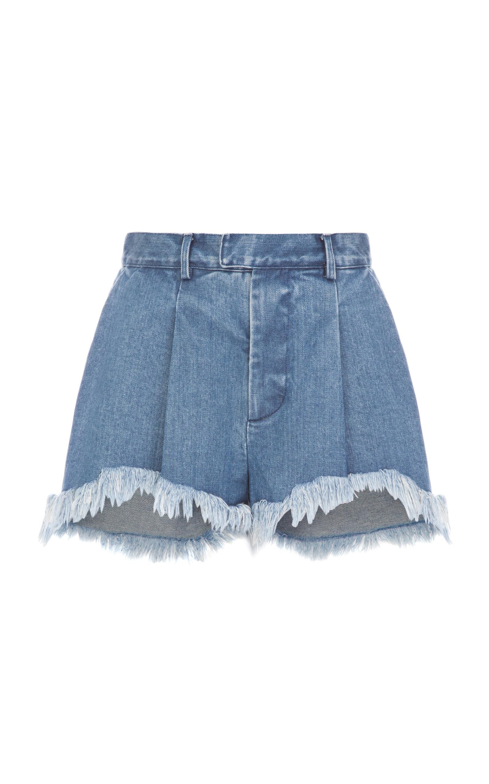 5d149ed1 Fringe Denim Shorts