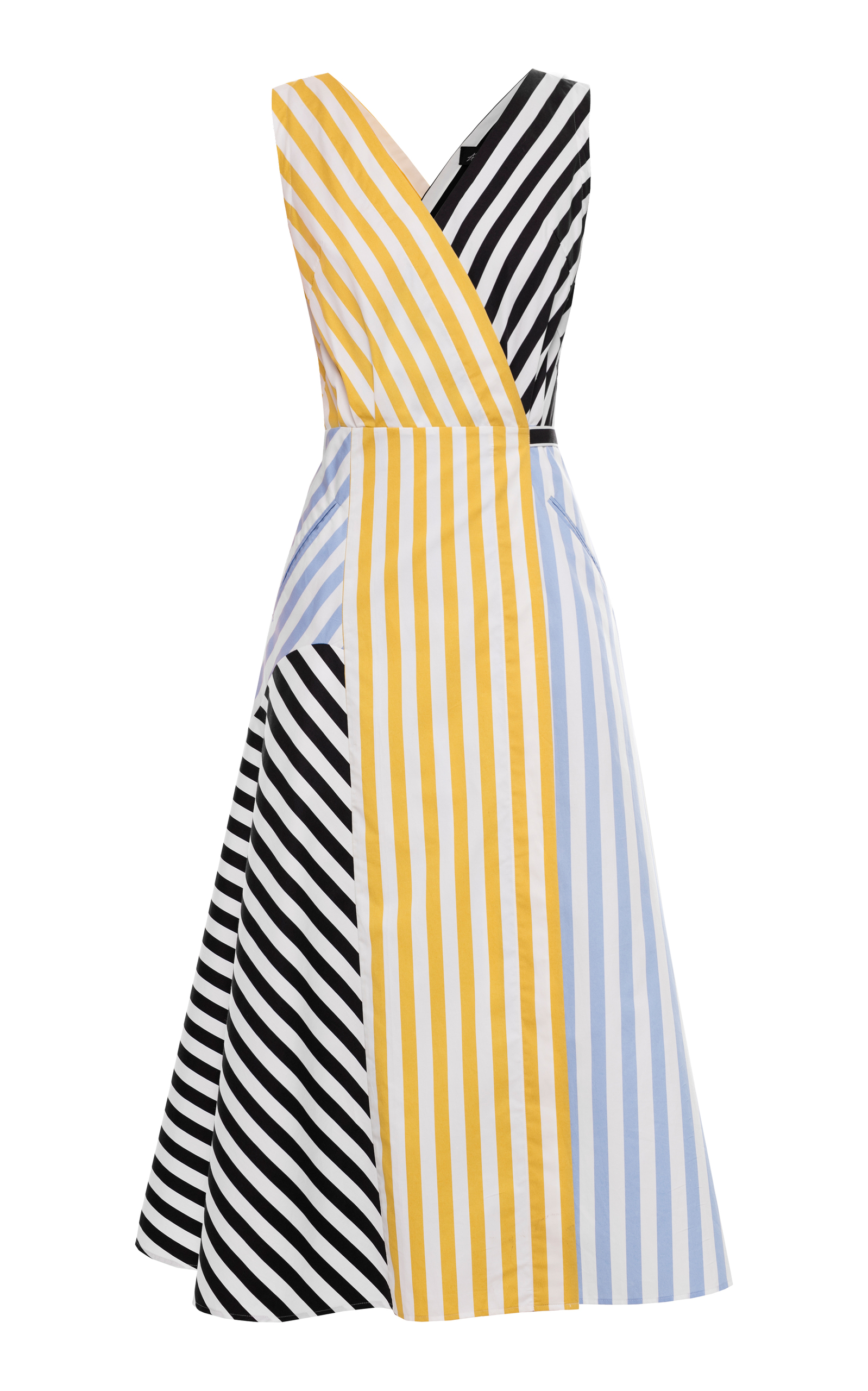 striped midi dress - Black ANNA OCTOBER