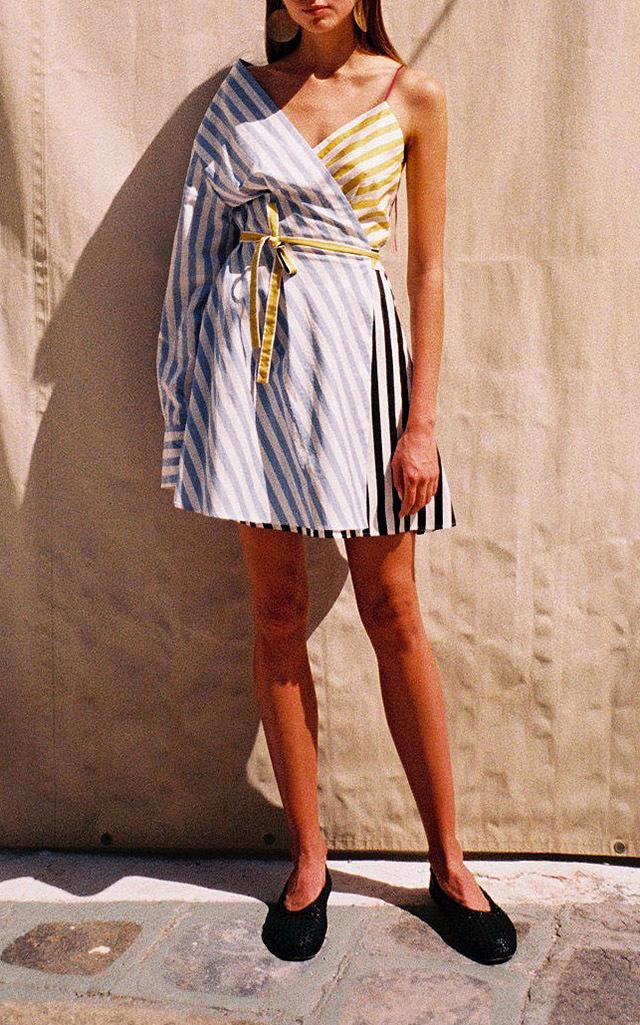 0189a502835e One Shoulder Mini Shirt Dress by Anna October | Moda Operandi