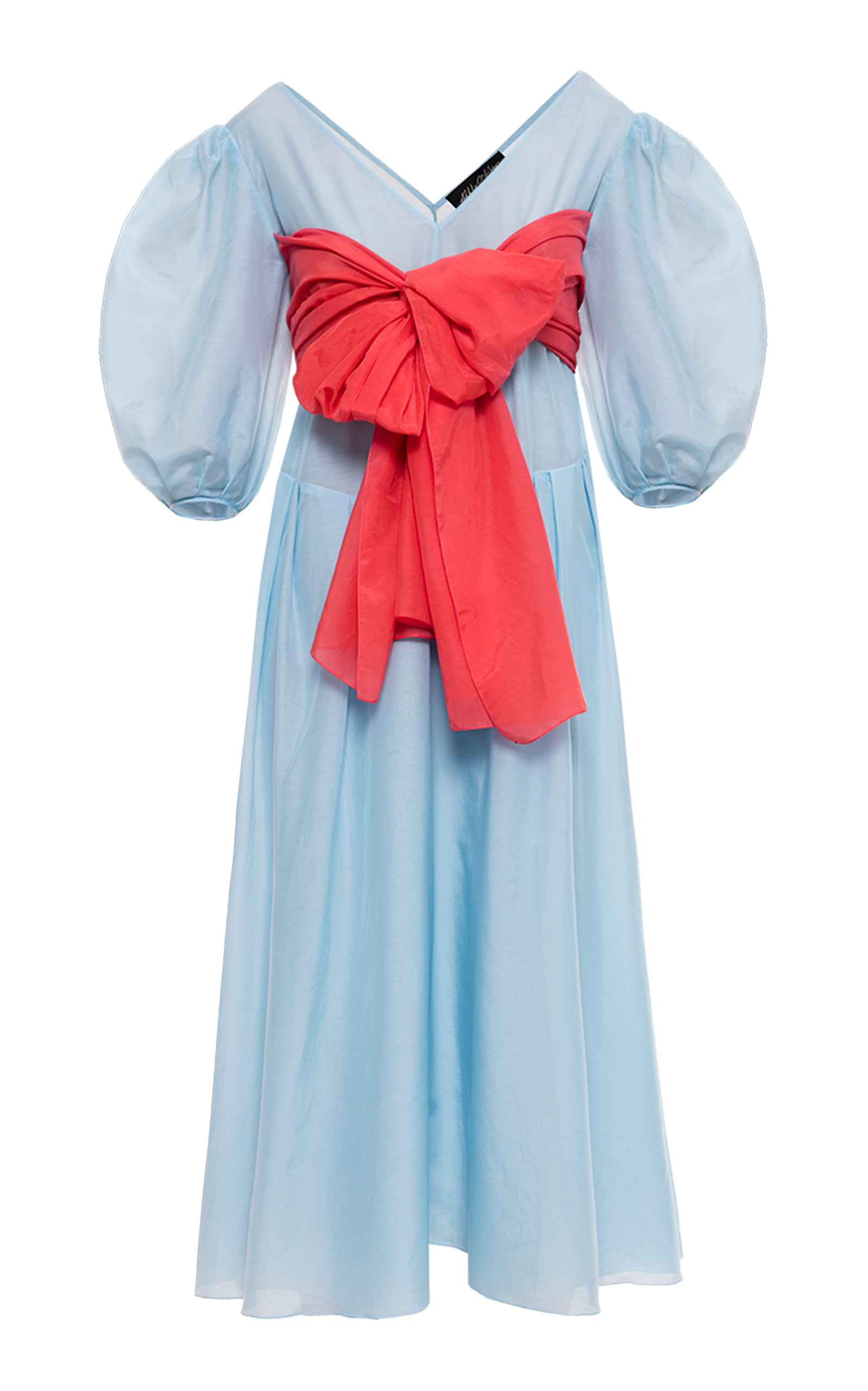 Alisa bow-embellished dress - Blue ANNA OCTOBER Buy Cheap Best Sale Outlet Shop For Cheap 100% Guaranteed Discount Visit T3sgA0