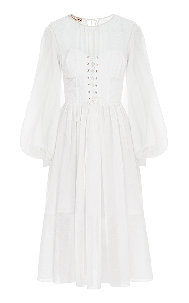 FLOW THE LABEL Baptise Corset Dress in White