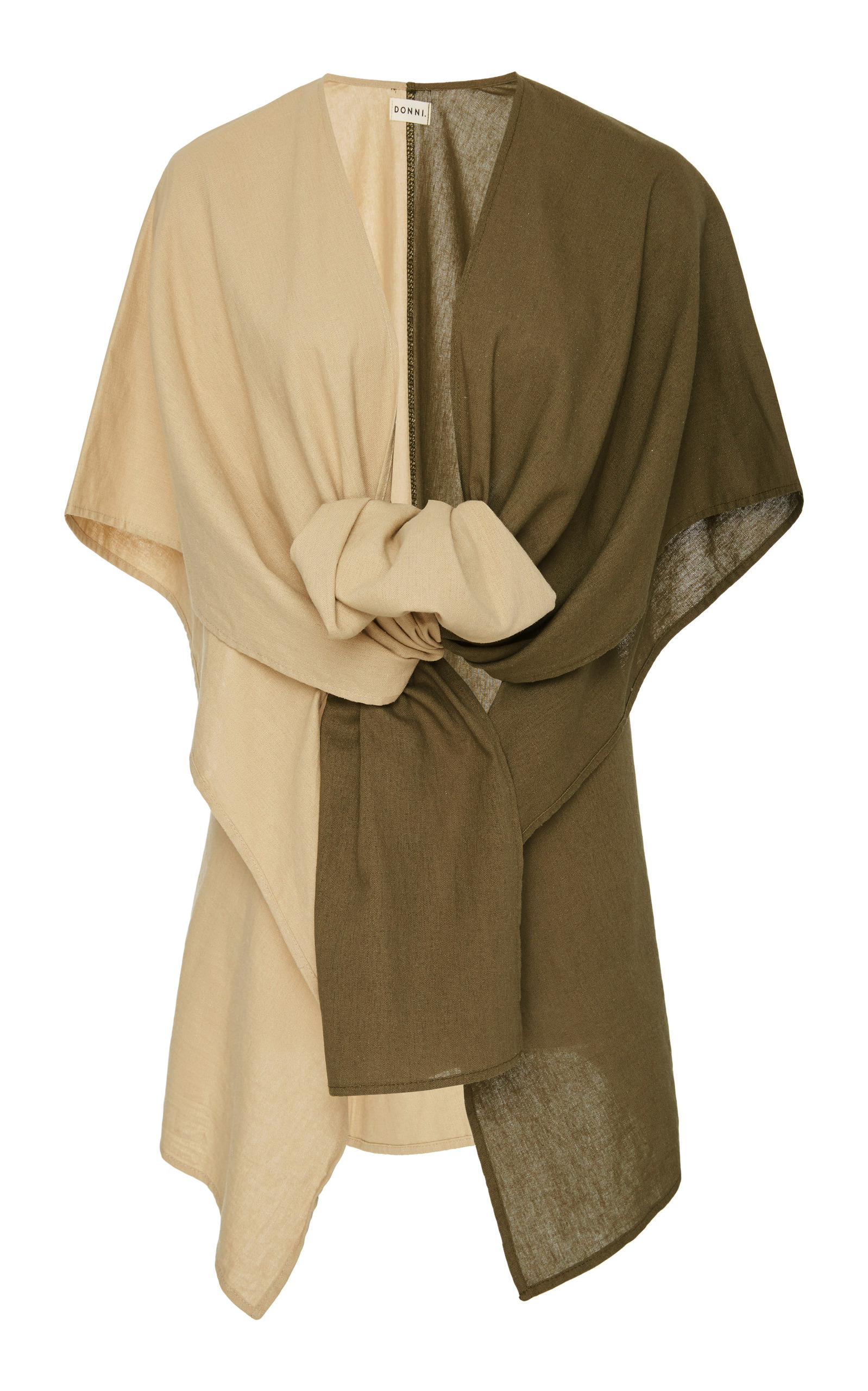 DONNI CHARM HART TWO-TONE LINEN-BLEND SHAWL