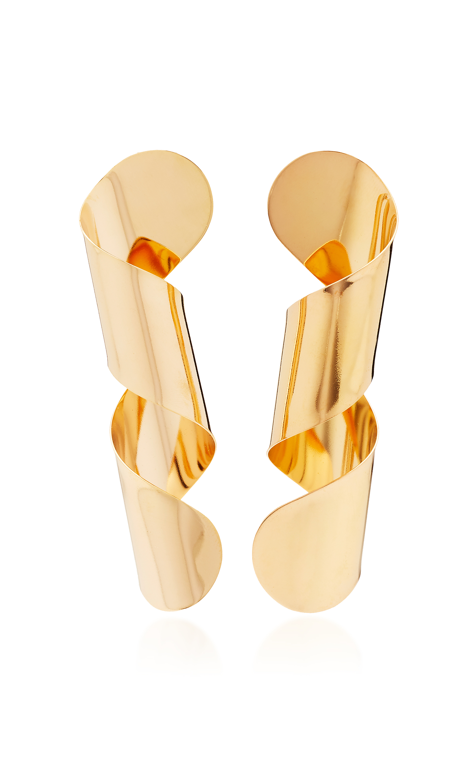 BIA DAIDONE LOOP 24K GOLD-PLATED EARRINGS