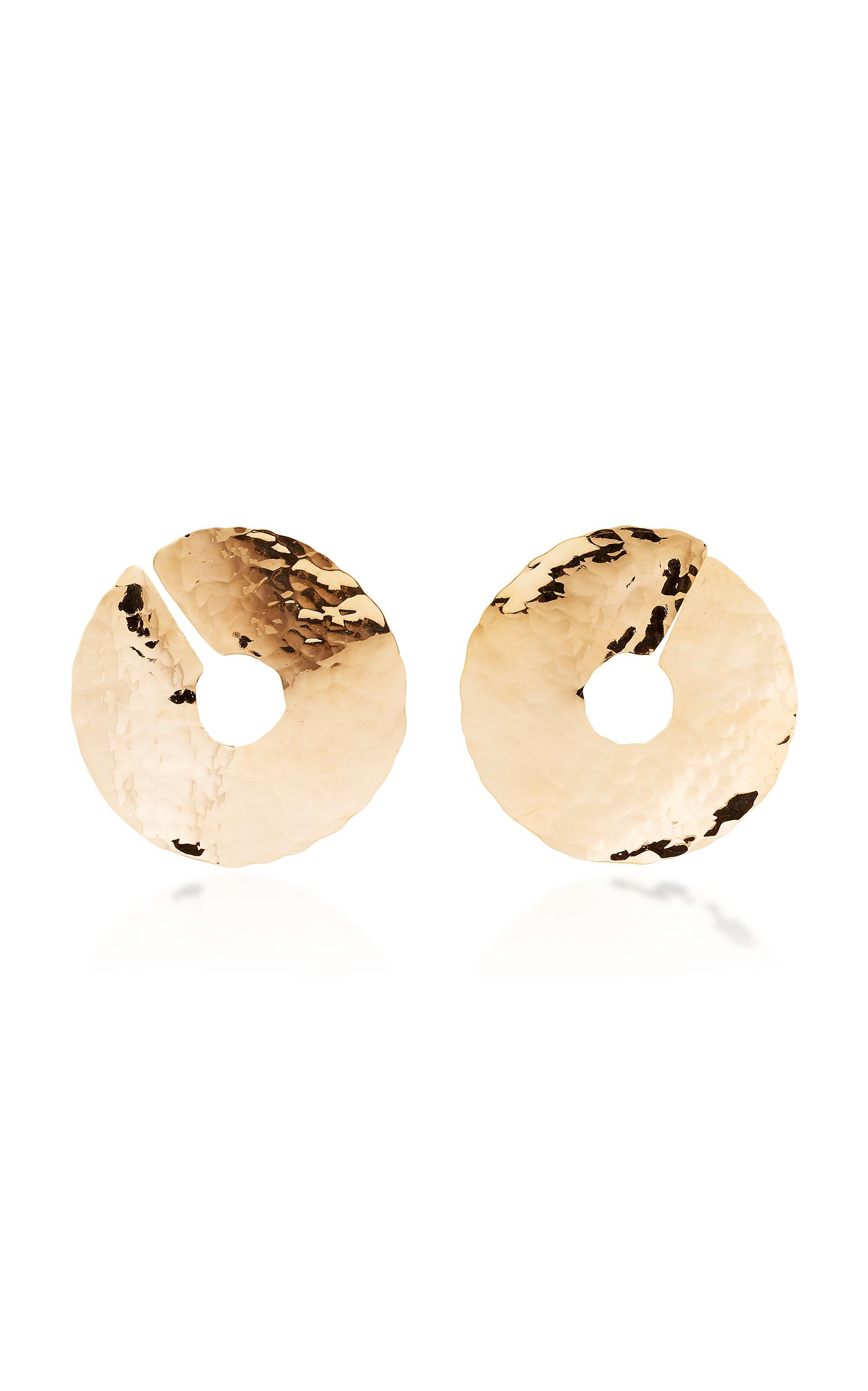 BIA DAIDONE JACKIE 24K GOLD-PLATED EARRINGS