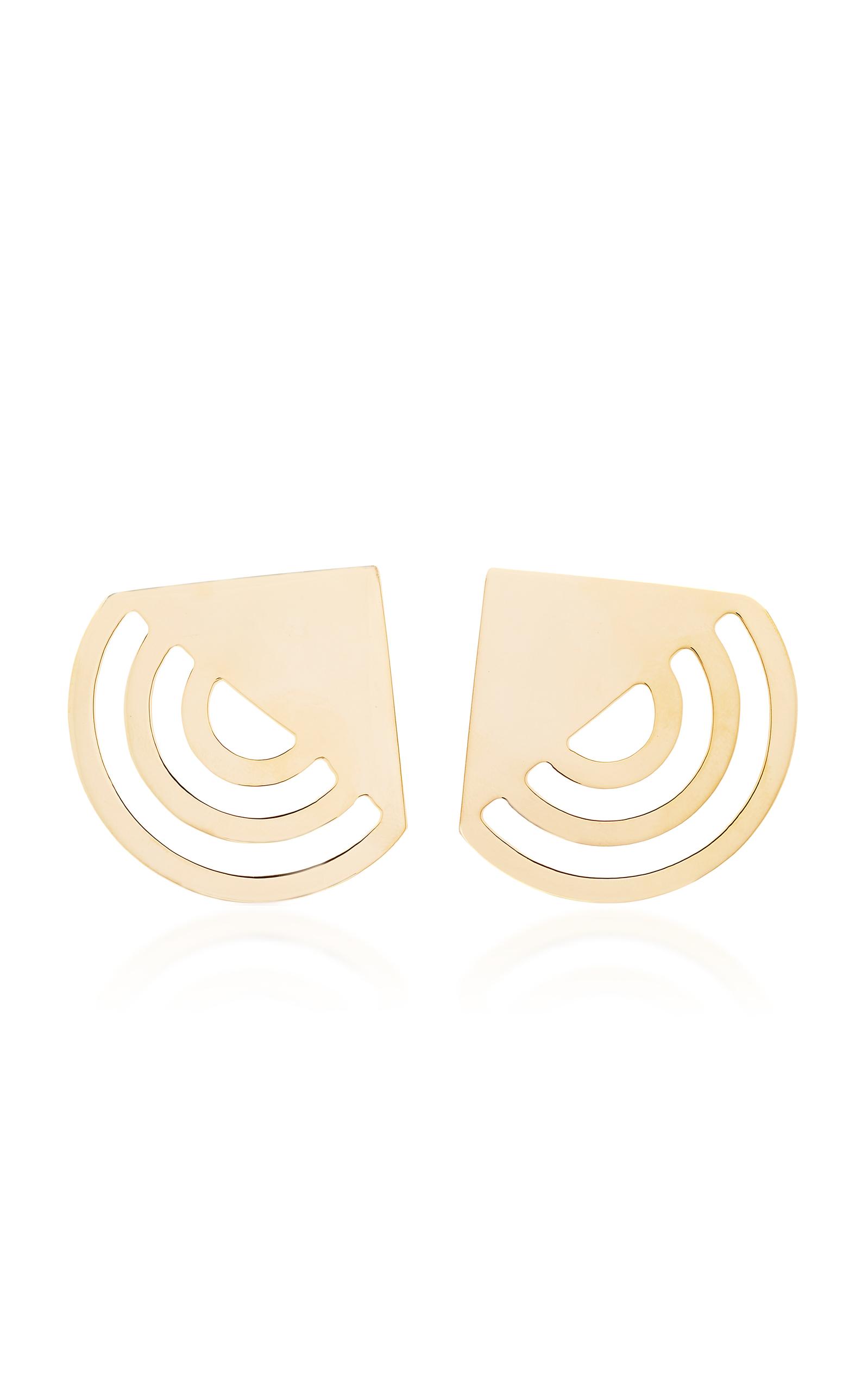 BIA DAIDONE GATSBY 24K GOLD-PLATED EARRINGS