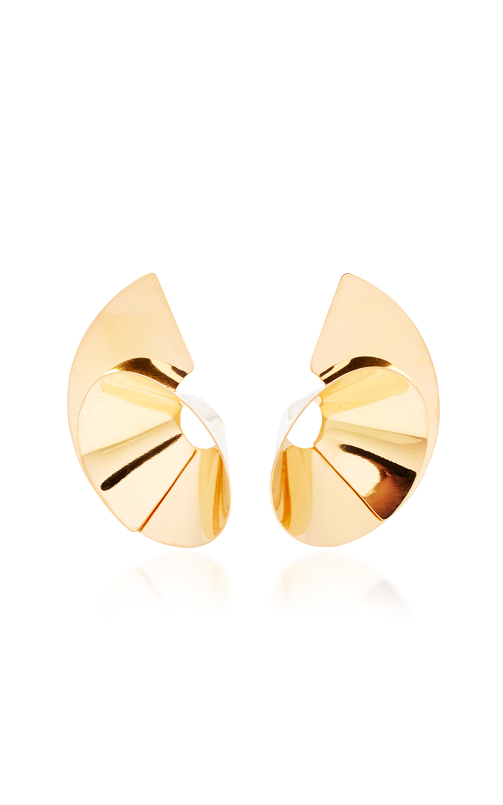gold inspired plated en cm by ciclo in silver earrings nature