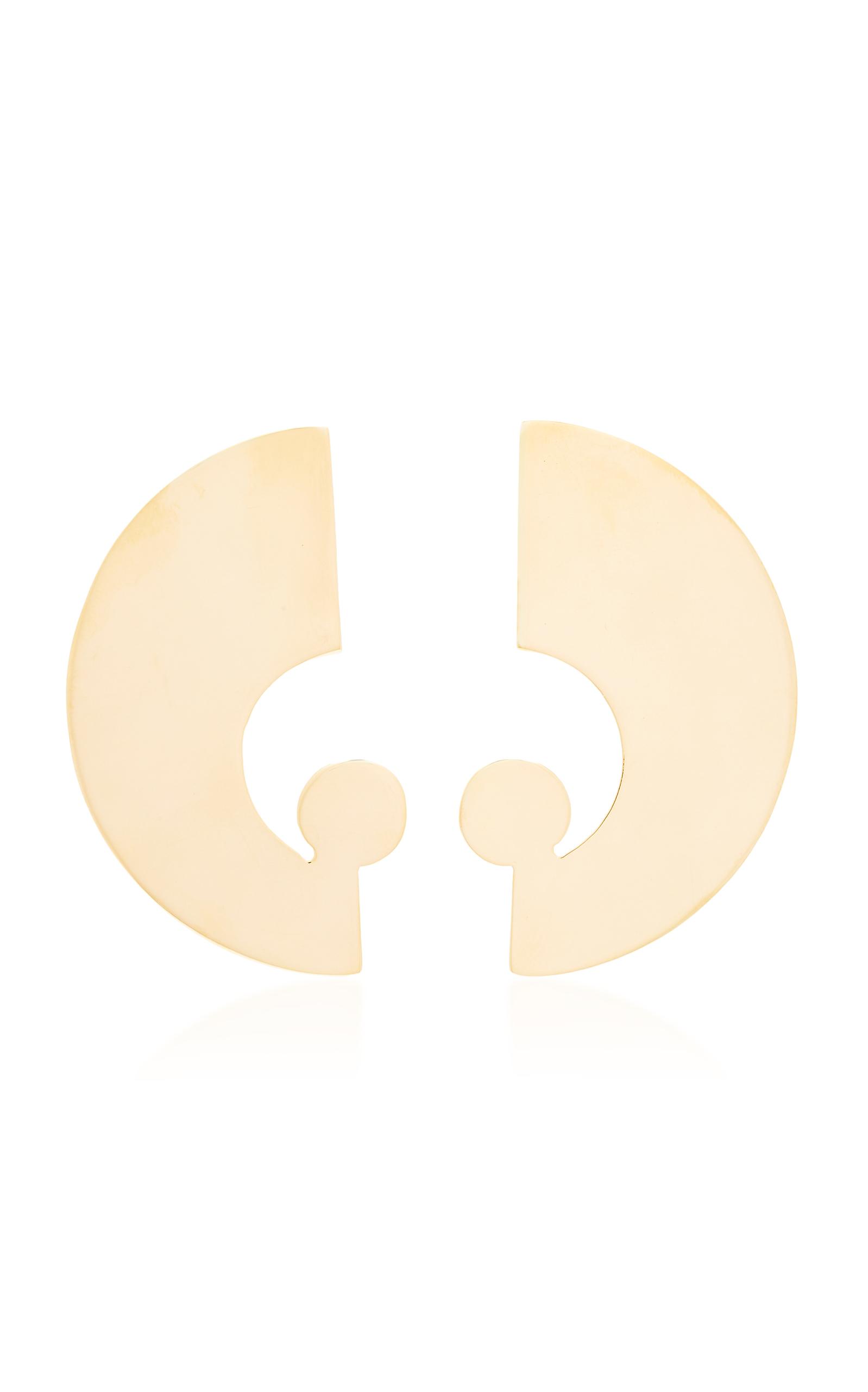 BIA DAIDONE ETTORE 24K GOLD-PLATED BRASS EARRINGS