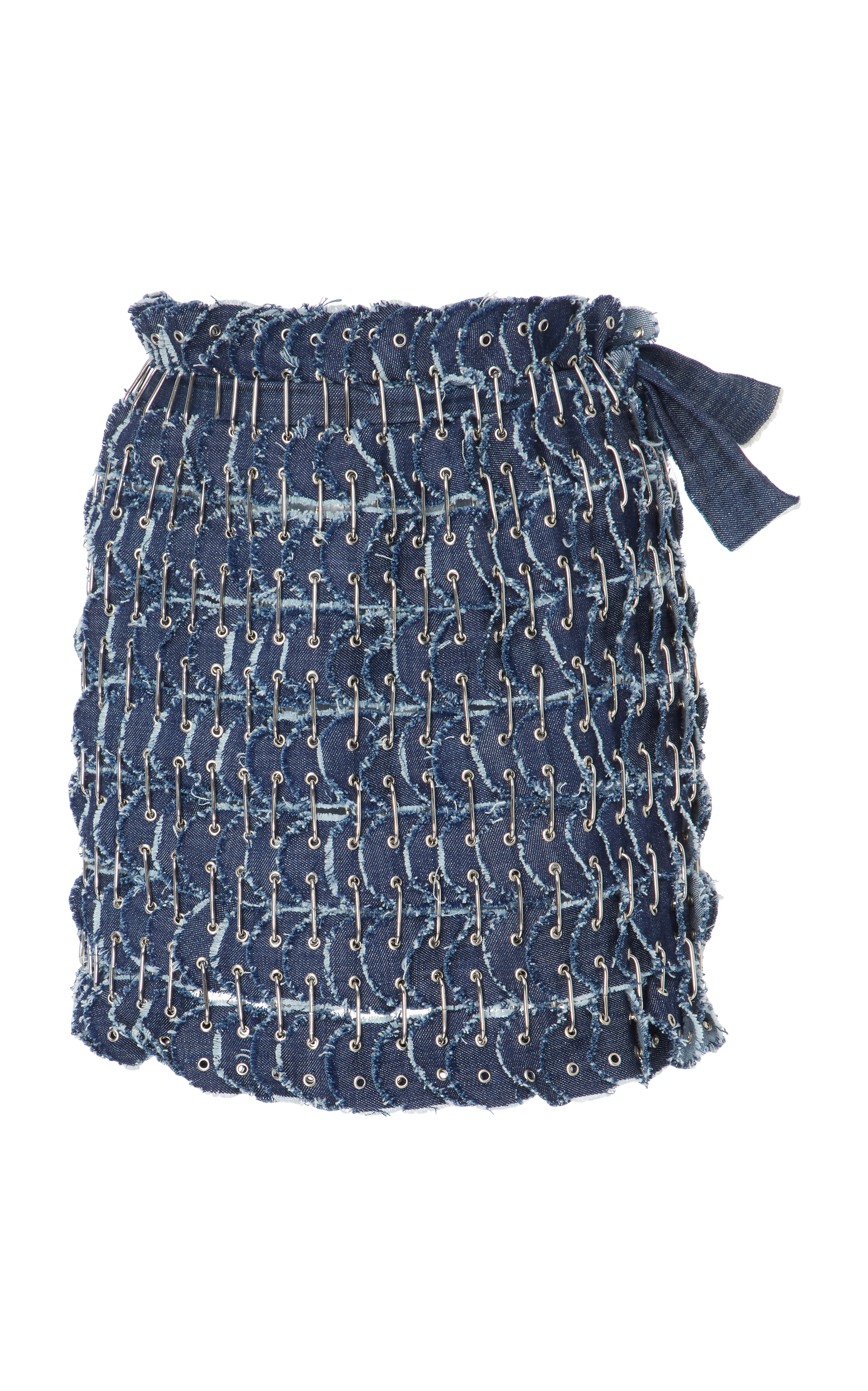 FANNIE SCHIAVONI Denim Skirt in Navy