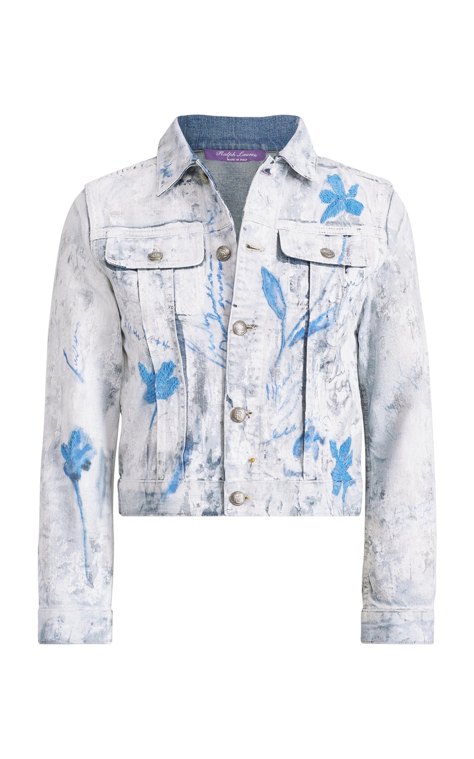 Ralph Lauren Jackets Cropped Trucker Painted Jacket