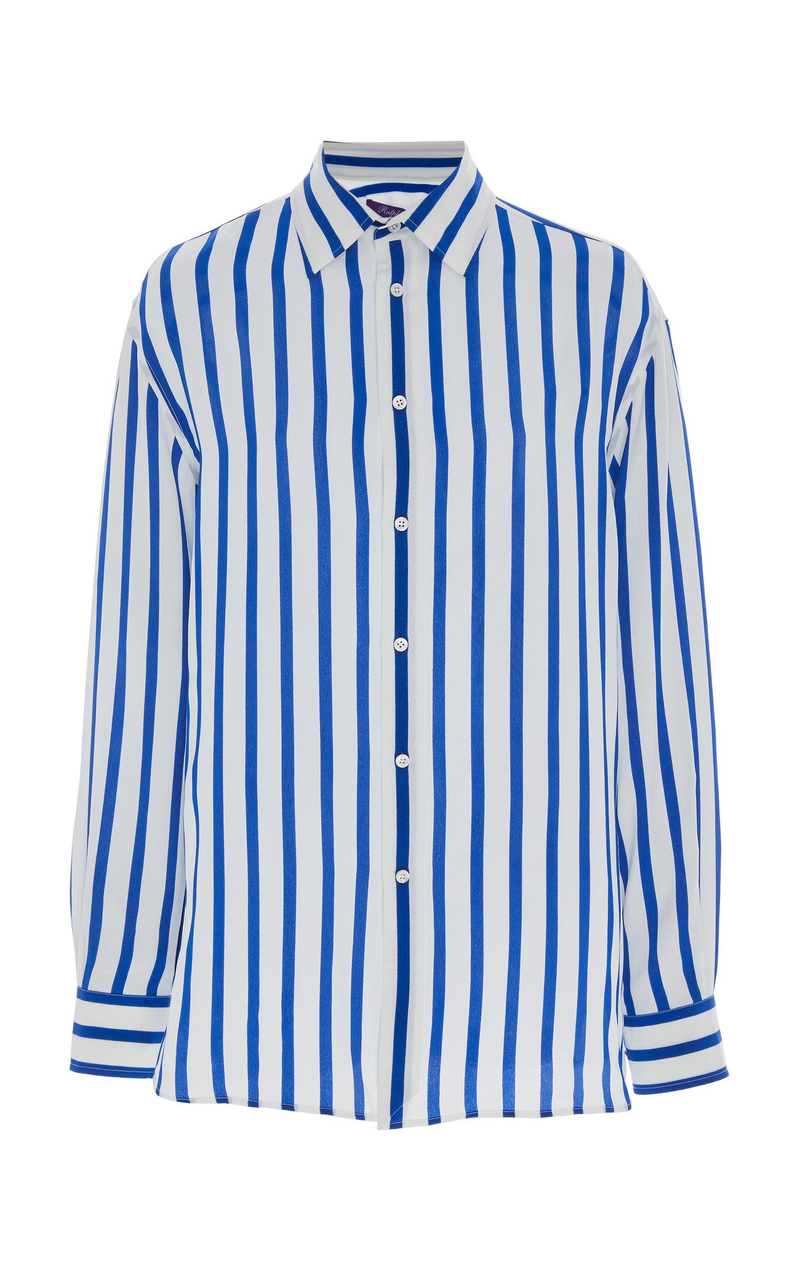 43cea290ab4 Ralph Lauren Adrien Silk Striped Shirt