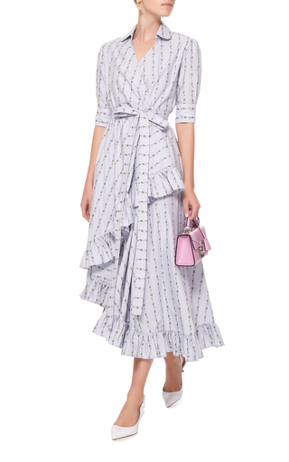 Cheap Sale Big Discount MO Exclusive Ruffled Cotton Wrap Dress Luisa Beccaria 2018 New Online 100% Authentic For Sale BbnFl