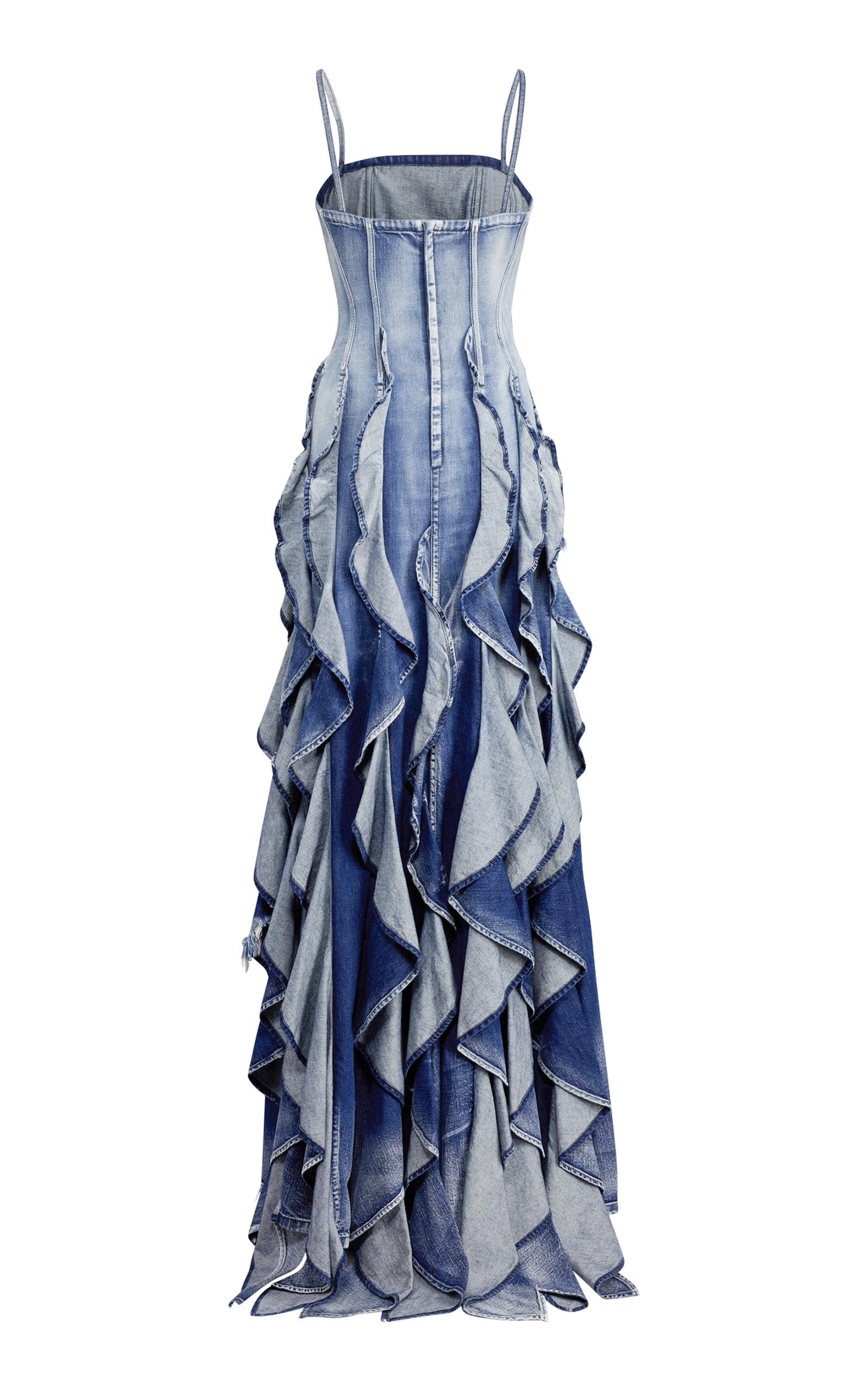34a5929203 Ralph LaurenDenim Eve Evening Dress. CLOSE. Loading. Loading