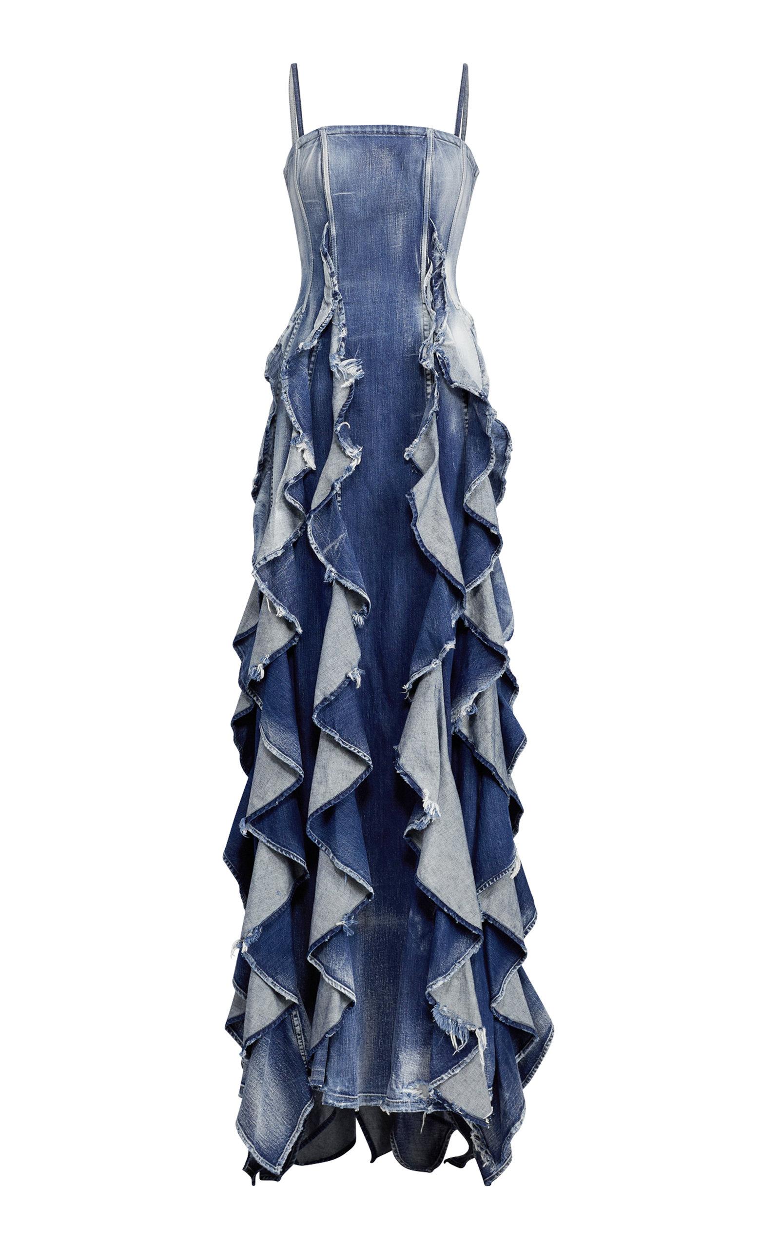 0a58cda780 Ralph LaurenDenim Eve Evening Dress. CLOSE. Loading