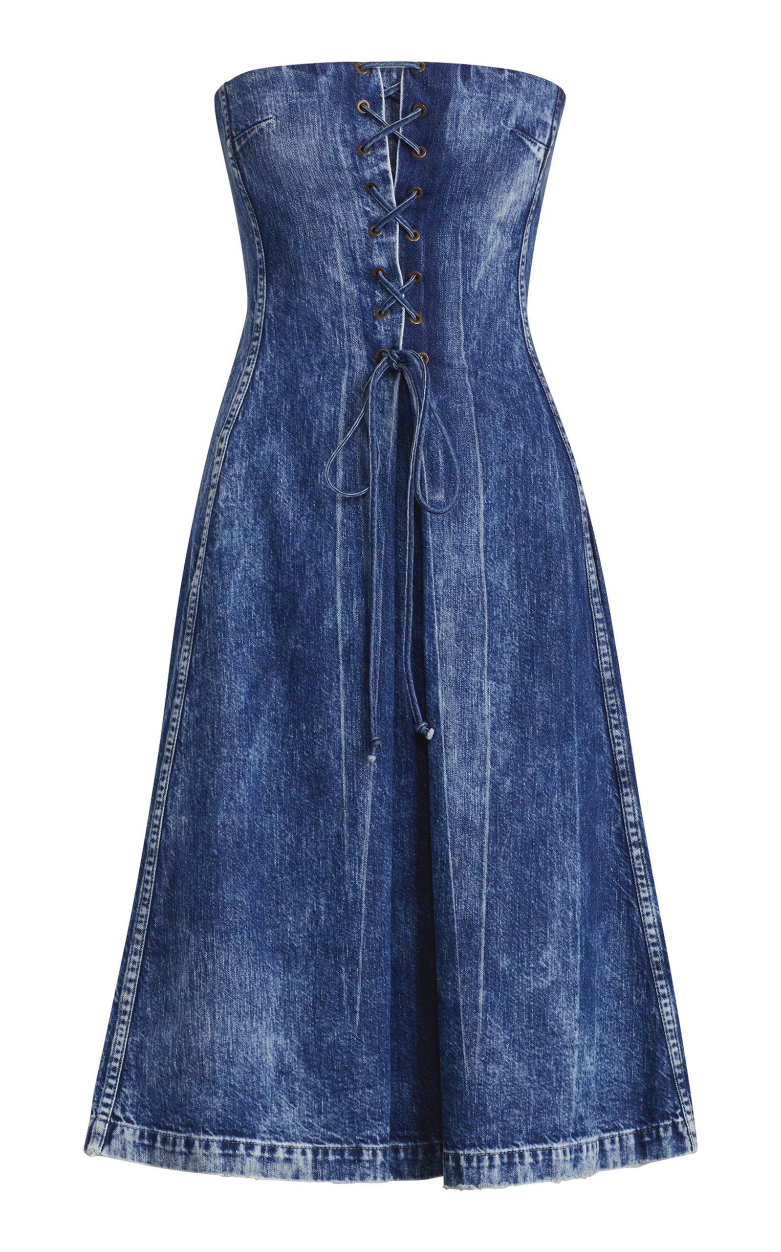 Esmee Denim Strapless Dress Ralph Lauren D1Ma9