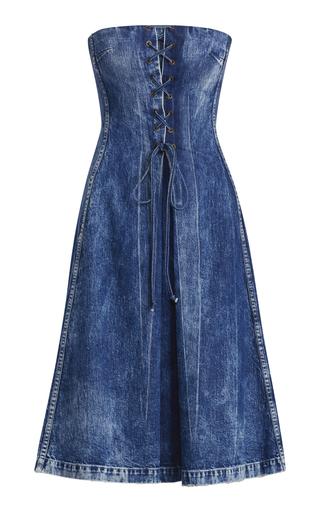 aad2f83e20c2 Ralph LaurenEsmee Denim Strapless Dress