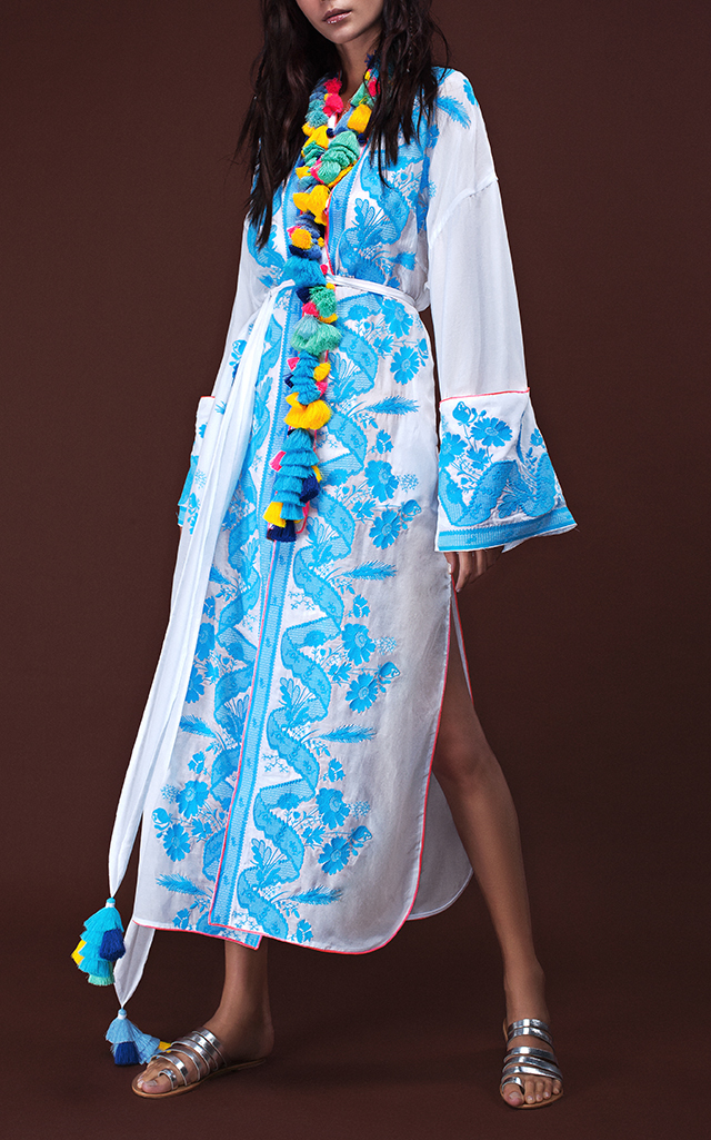 Yuliya Magdych Lace Batiste Tassel Midi Robe $1,410 ($705 Deposit)