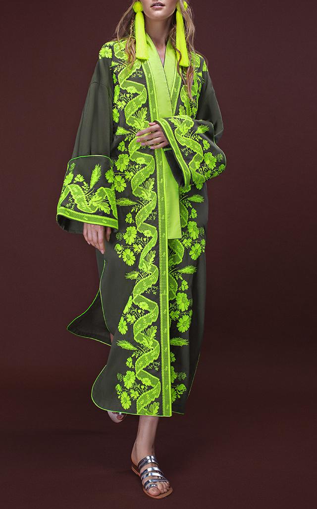 Yuliya Magdych Lace Batiste Midi Robe $1,235 ($617.50 Deposit)