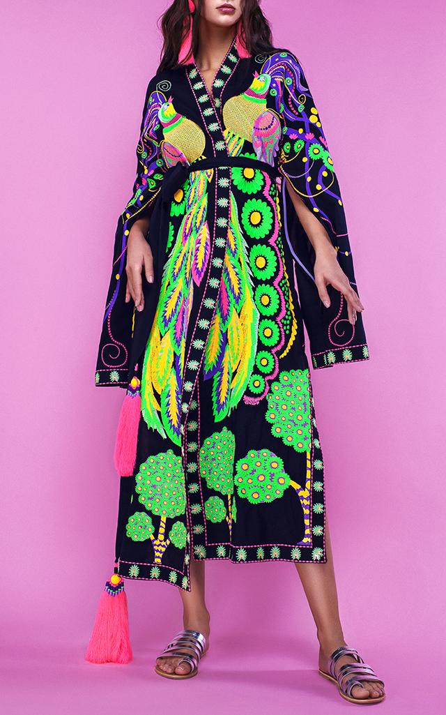 Yuliya Magdych Firebird Embroidered Midi Robe $2,300 ($1,150 Deposit)
