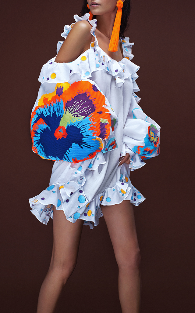 Yuliya Magdych Pansies Mini Polka Dot Dress $1,340 ($670 Deposit)