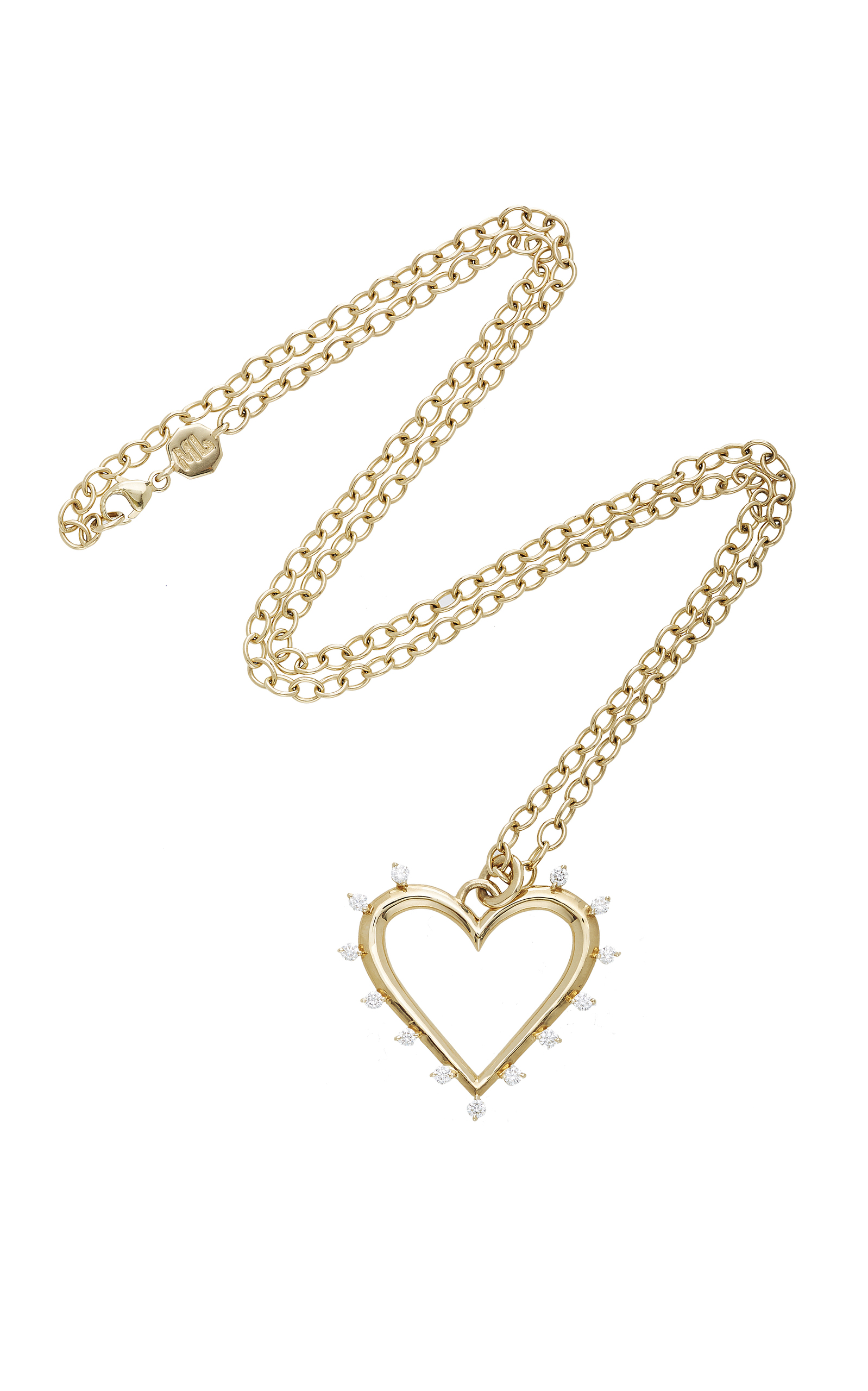 london heart gold orelia open necklace products and earring set