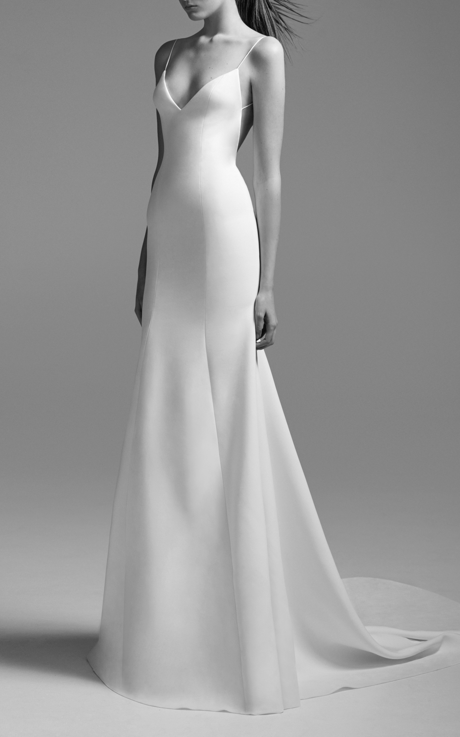 Moda Operandi | Kristen Satin Bikini Gown by Alex Perry Bride