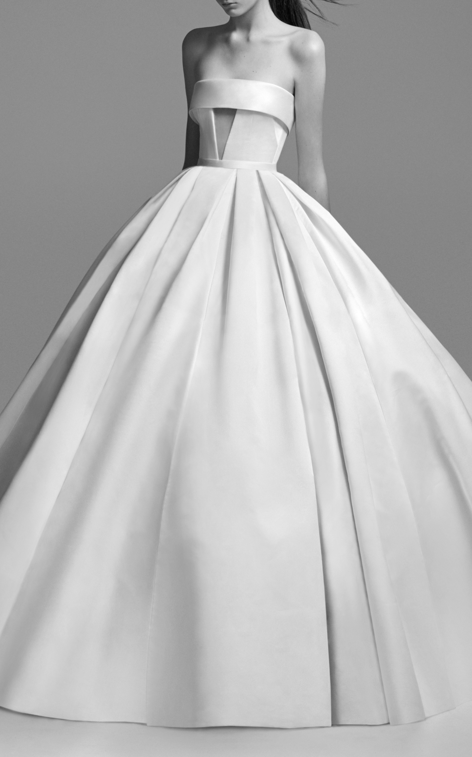 Riley Strapless Satin Cuff Gown by Alex Perry Bride | Moda Operandi