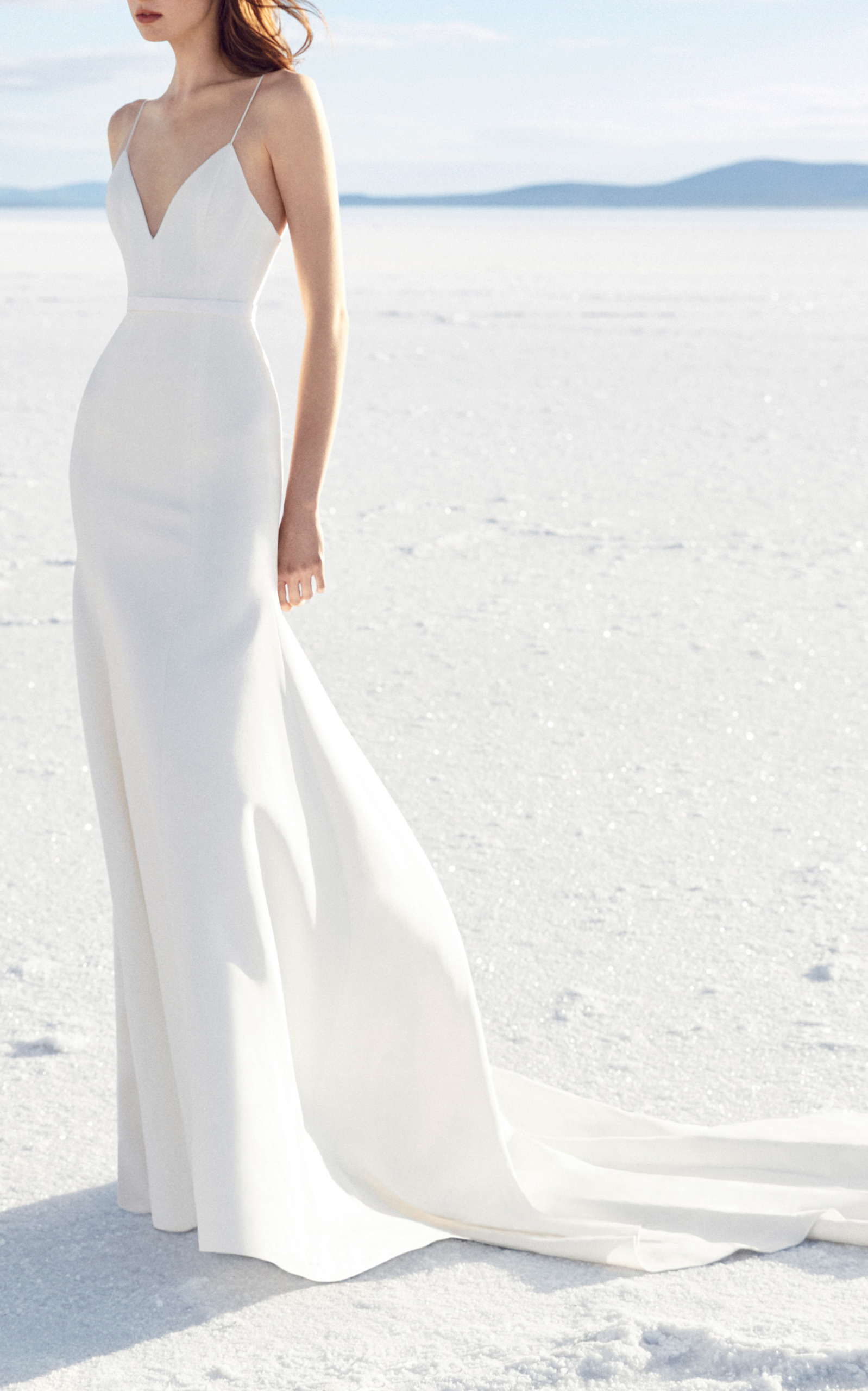 Cameron Satin Trumpet Gown by Alex Perry Bride | Moda Operandi