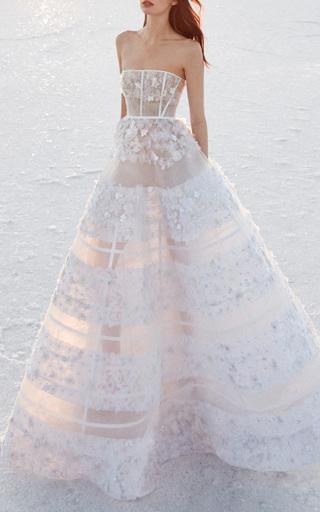 harper sheer embellished gown by alex perry bride moda operandi. Black Bedroom Furniture Sets. Home Design Ideas