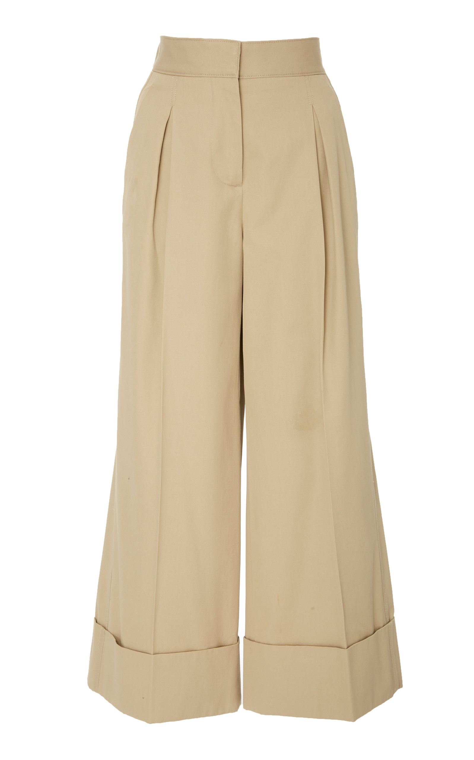 SUMMA Cropped Wide Leg Trouser With Cuff