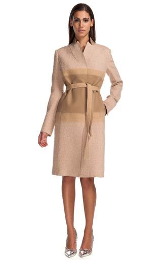 Medium alberta ferretti brown boucle coat