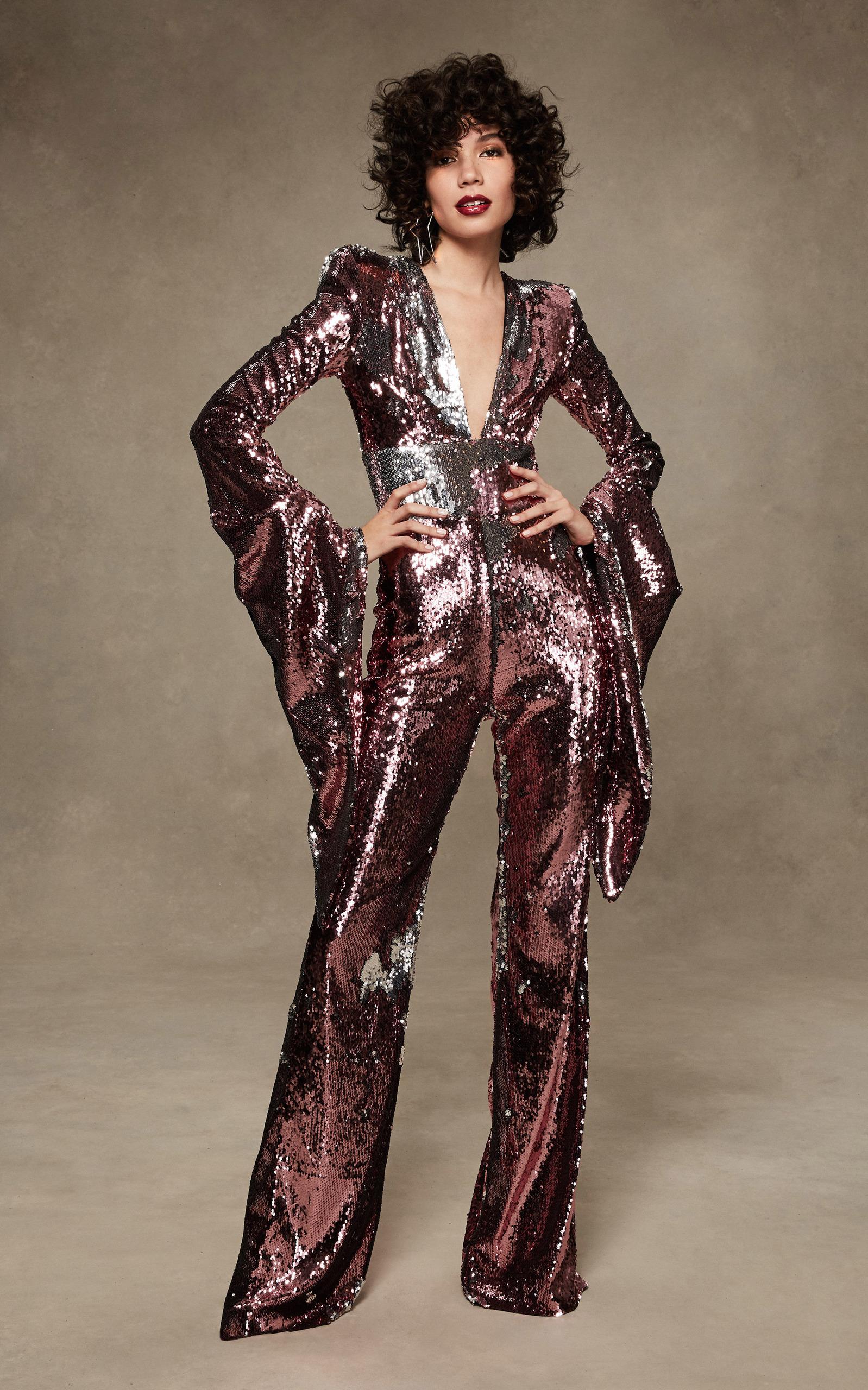 f41affaa865fb Sequin Embellished Jumpsuit by Greta Constantine | Moda Operandi
