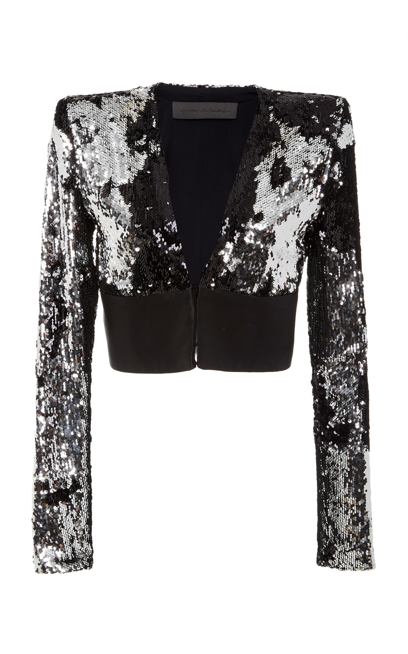 GRETA CONSTANTINE Trixie Bolero Embellished Jacket in Multi