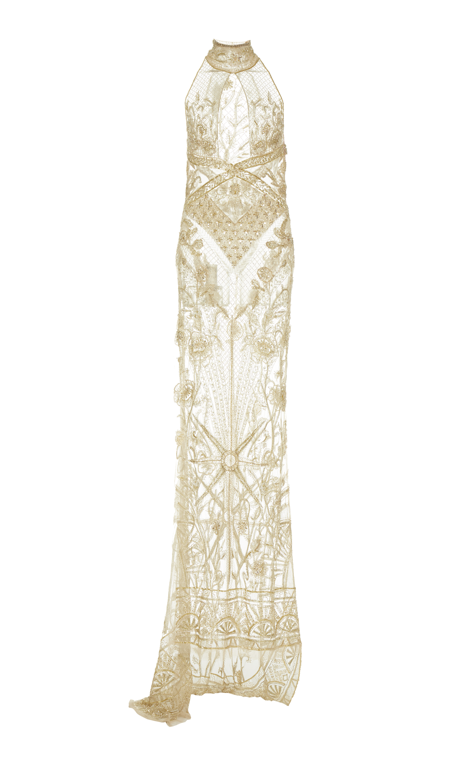 Art Deco Embellished Cut-Away Gown by Dundas | Moda Operandi