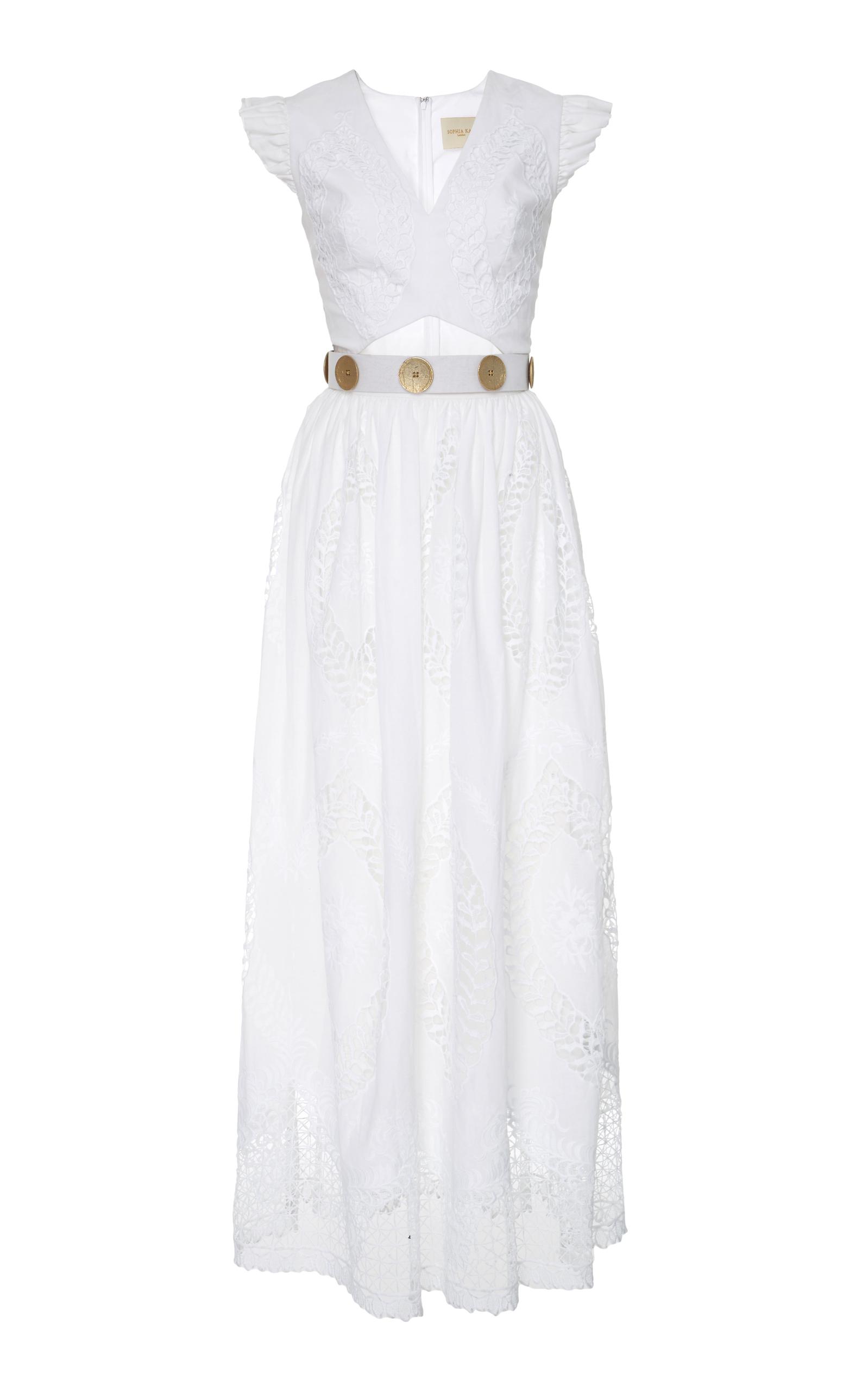 b22ec38fdbe Maria Clara Lace A Line Dress By Sophia Kah Moda Operandi