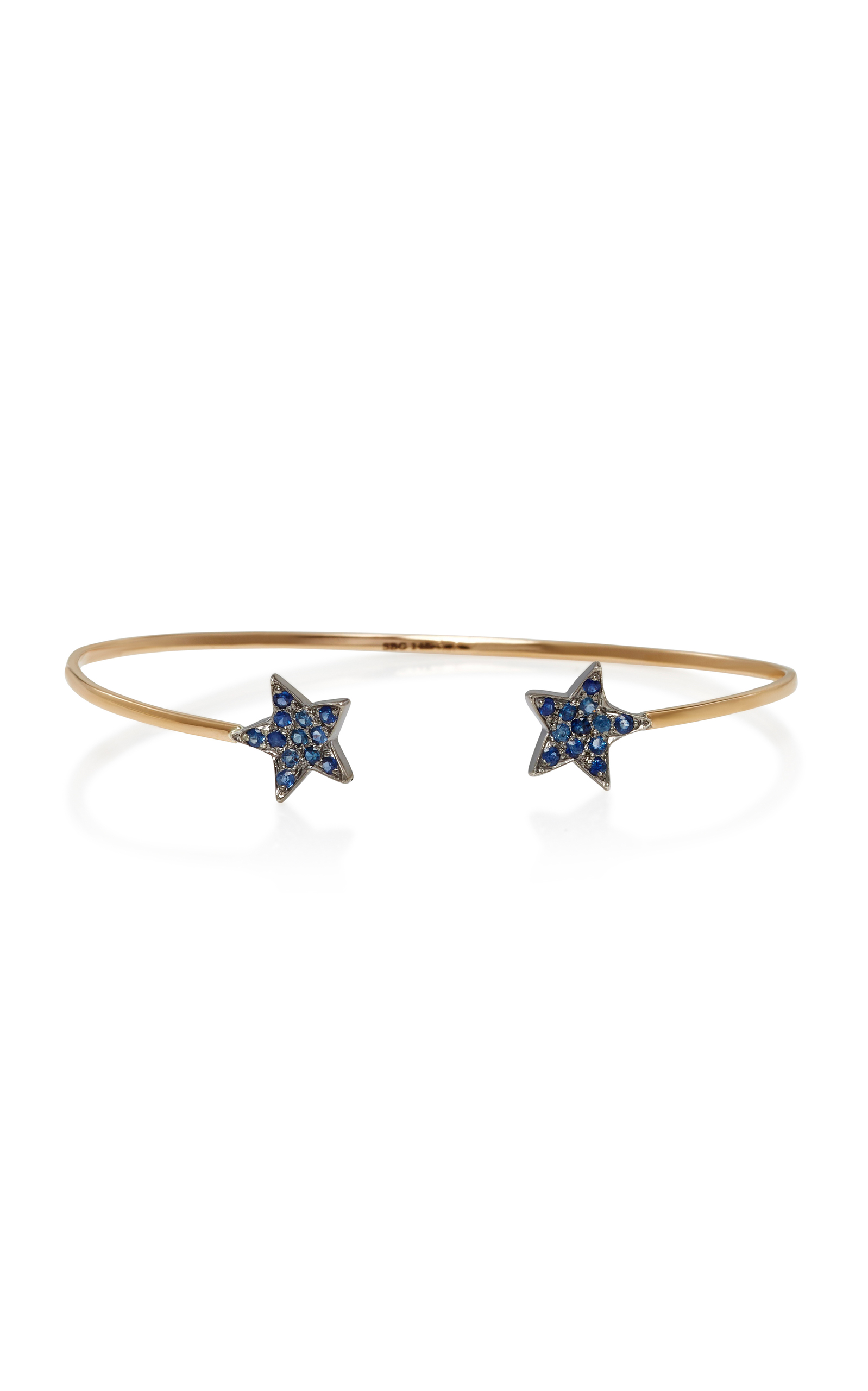 SHE BEE 14K GOLD AND SAPPHIRE STAR CUFF
