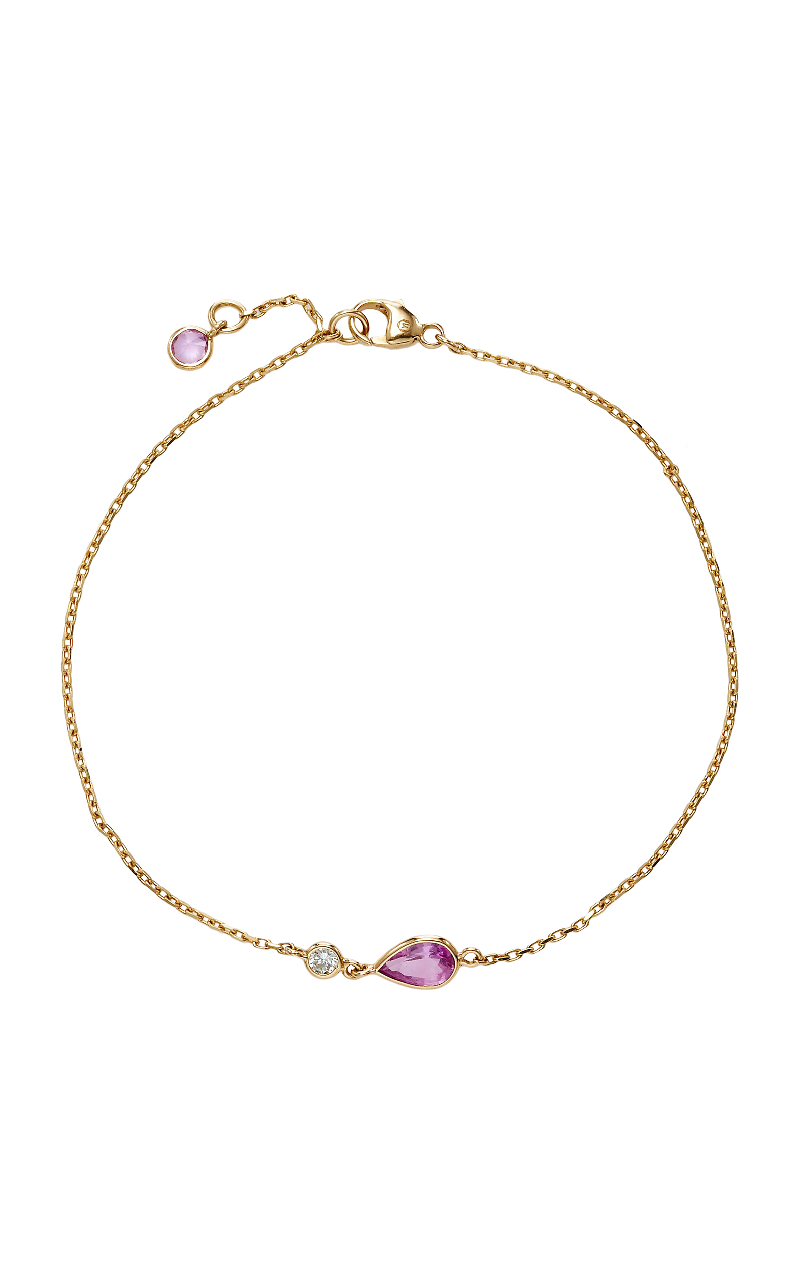 in bracelet effy rose k pink effyr sapphire ct tennis tw collection gold diamond and