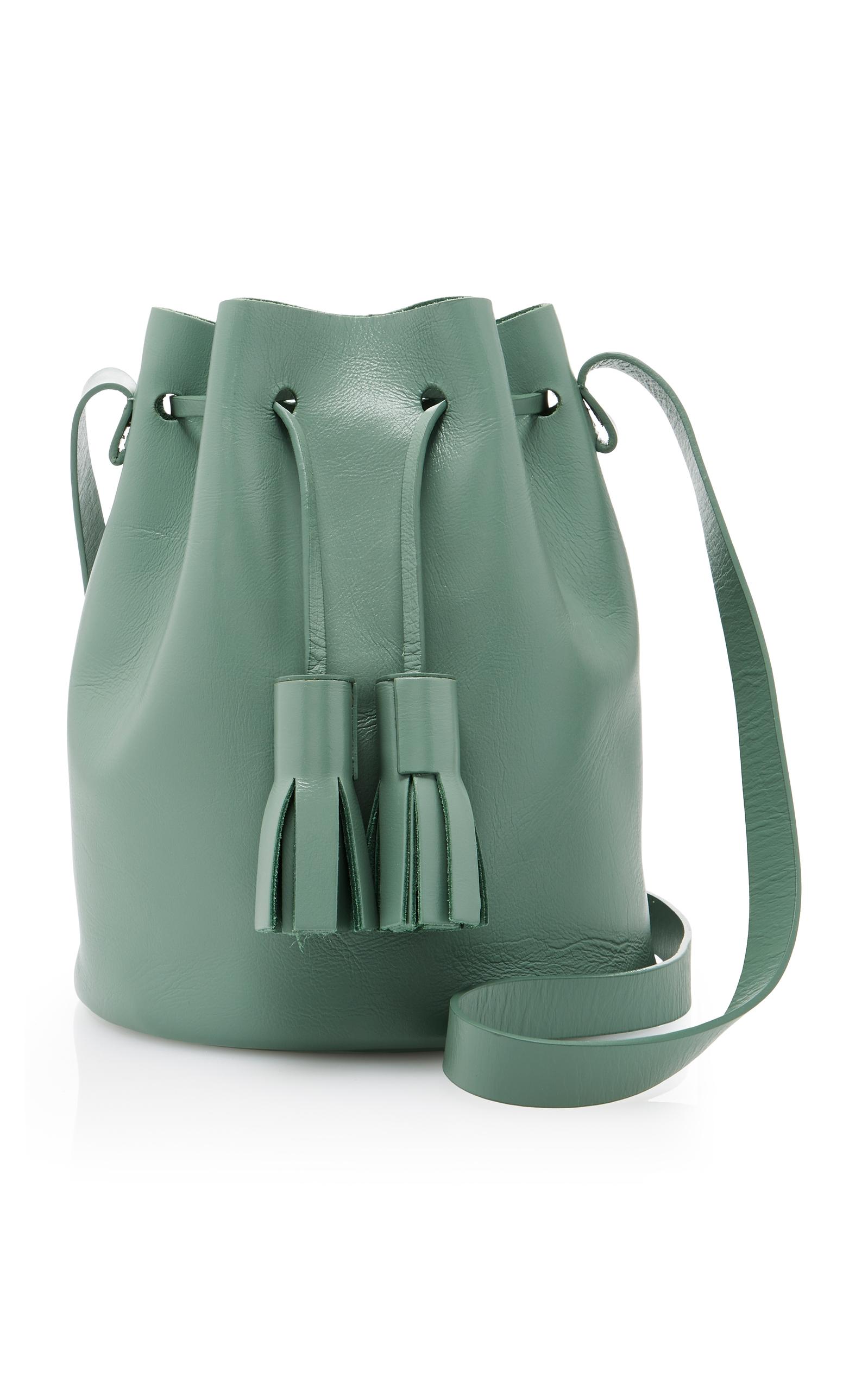 Building BlockMini Leather Bucket Bag. CLOSE. Loading